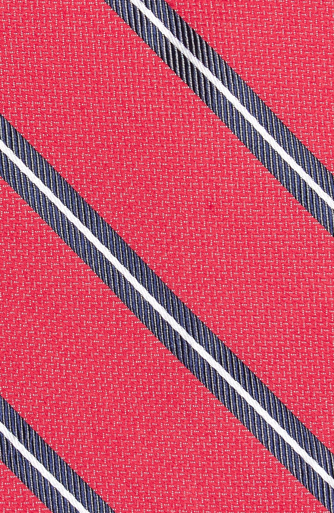 Edinger Stripe Silk & Cotton Tie,                             Alternate thumbnail 11, color,