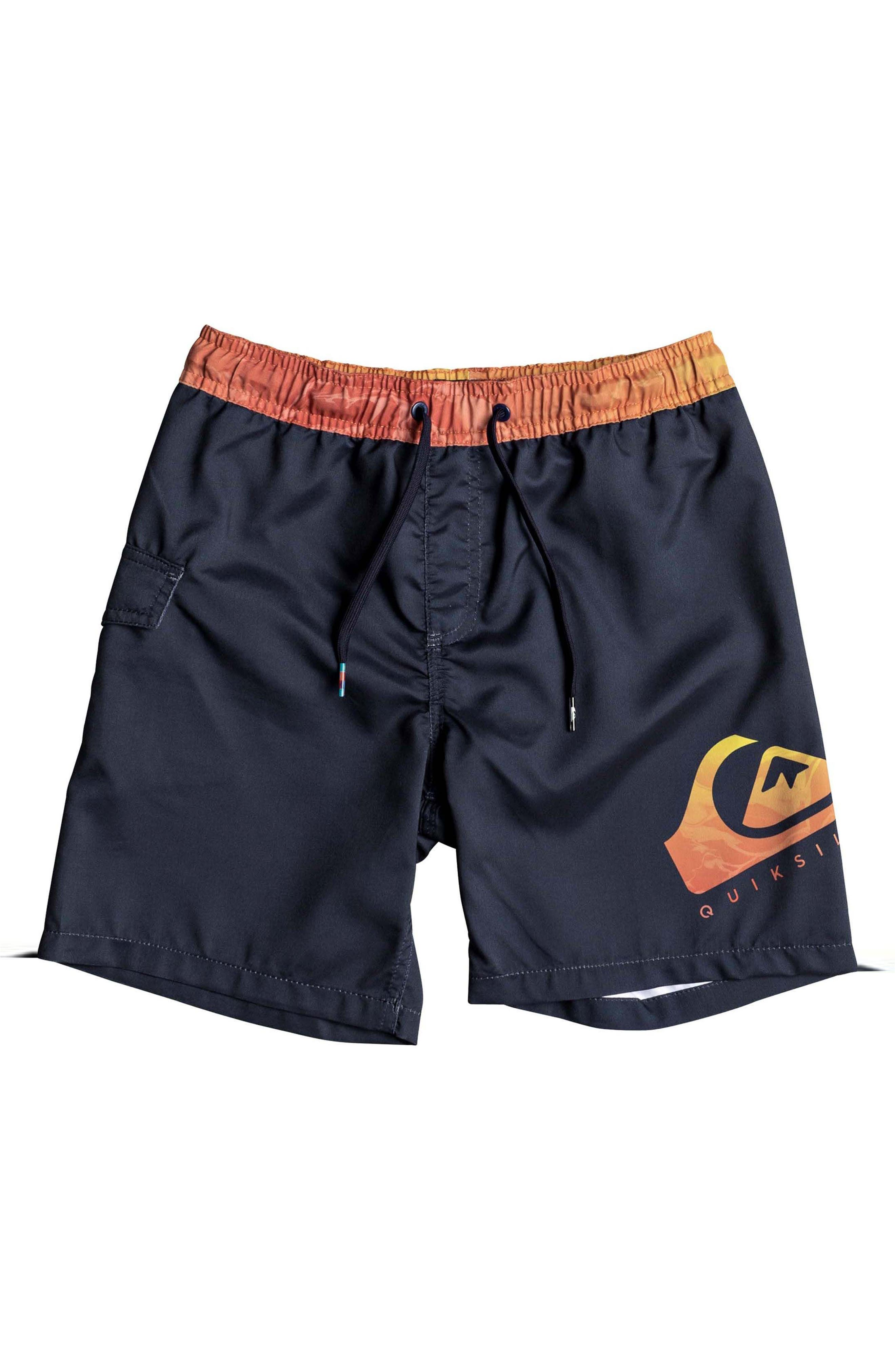 Lava Logo Volley Shorts,                             Main thumbnail 1, color,                             BLACK