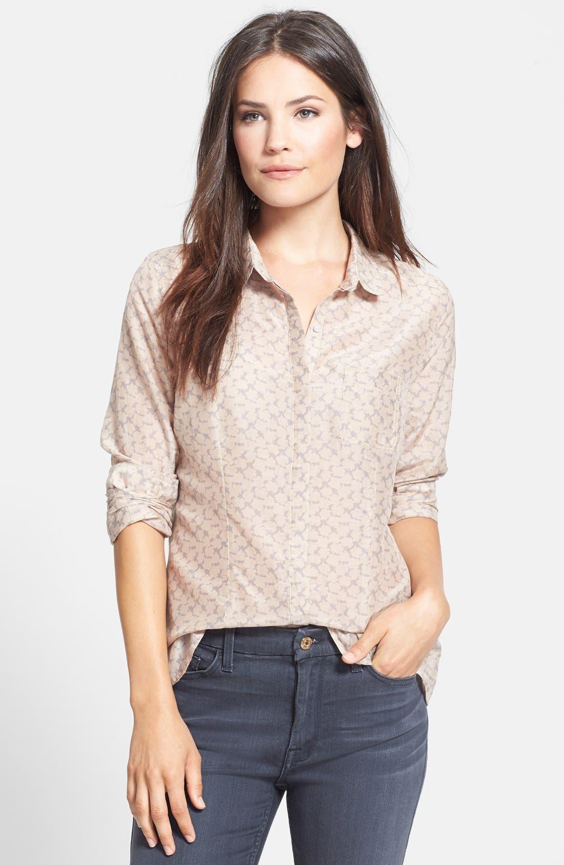 Cotton & Silk Shirt,                             Main thumbnail 10, color,