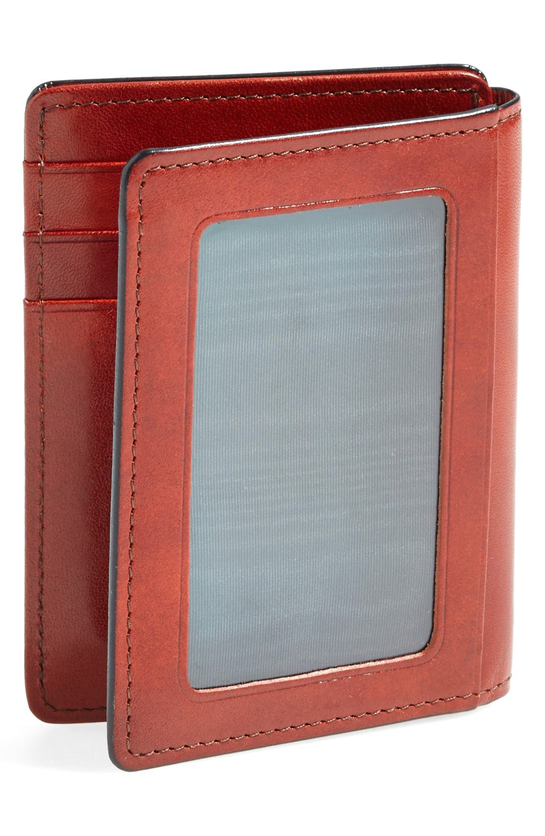 'Old Leather' Front Pocket ID Wallet,                             Alternate thumbnail 3, color,                             COGNAC