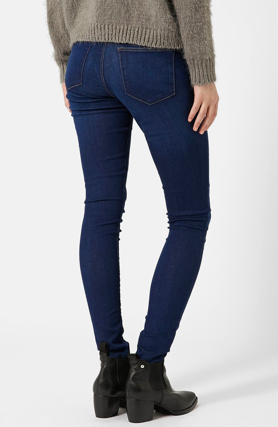Moto 'Leigh' Ankle Skinny Jeans,                             Alternate thumbnail 5, color,                             410