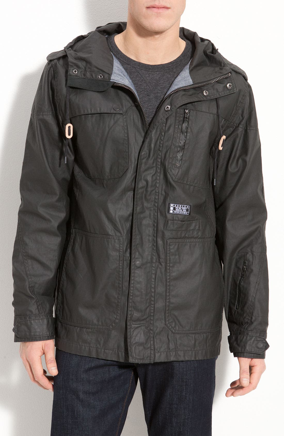 'Covert' Hooded Utility Jacket, Main, color, 001
