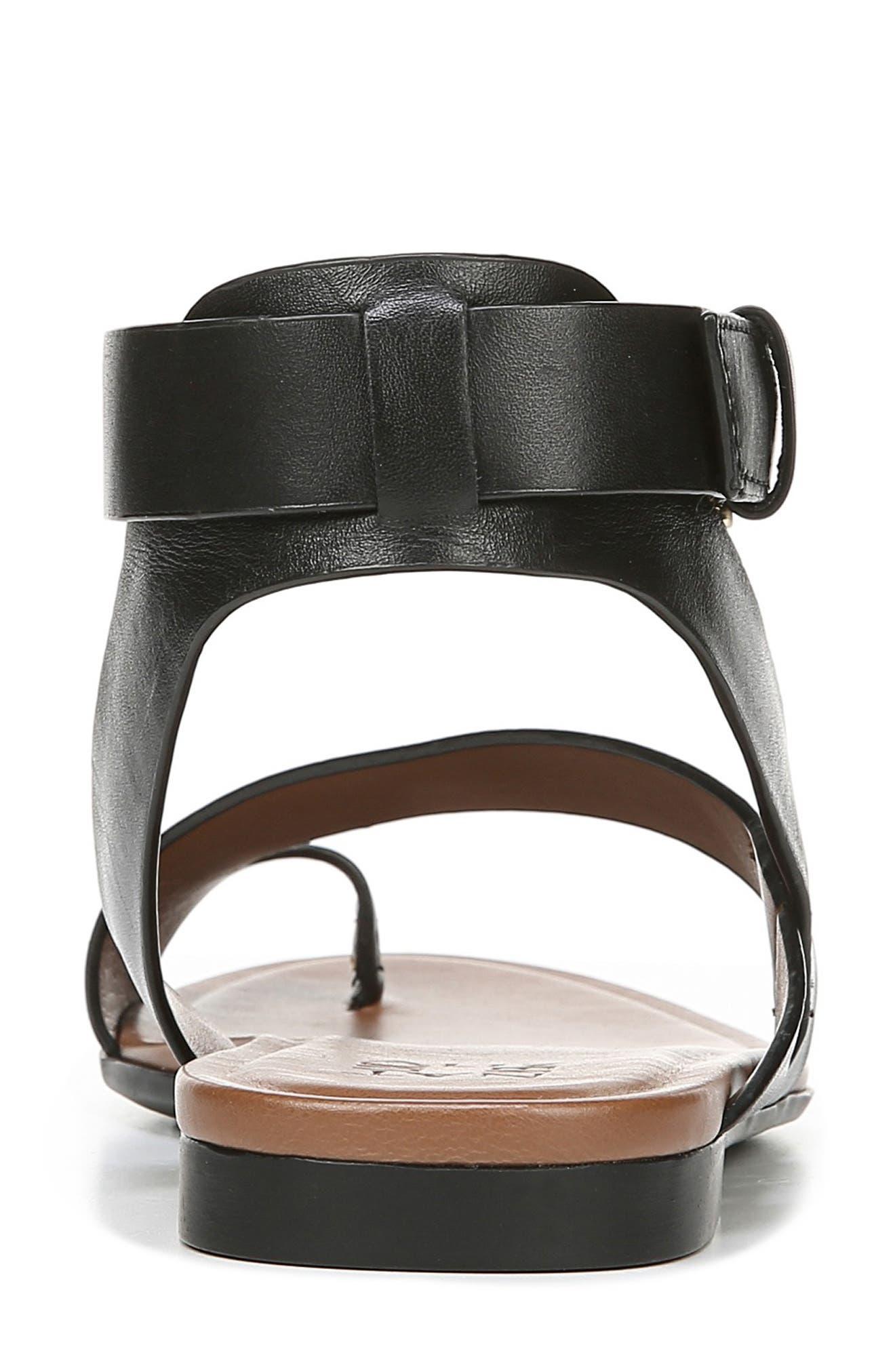 Tally Ankle Strap Sandal,                             Alternate thumbnail 7, color,                             BLACK LEATHER
