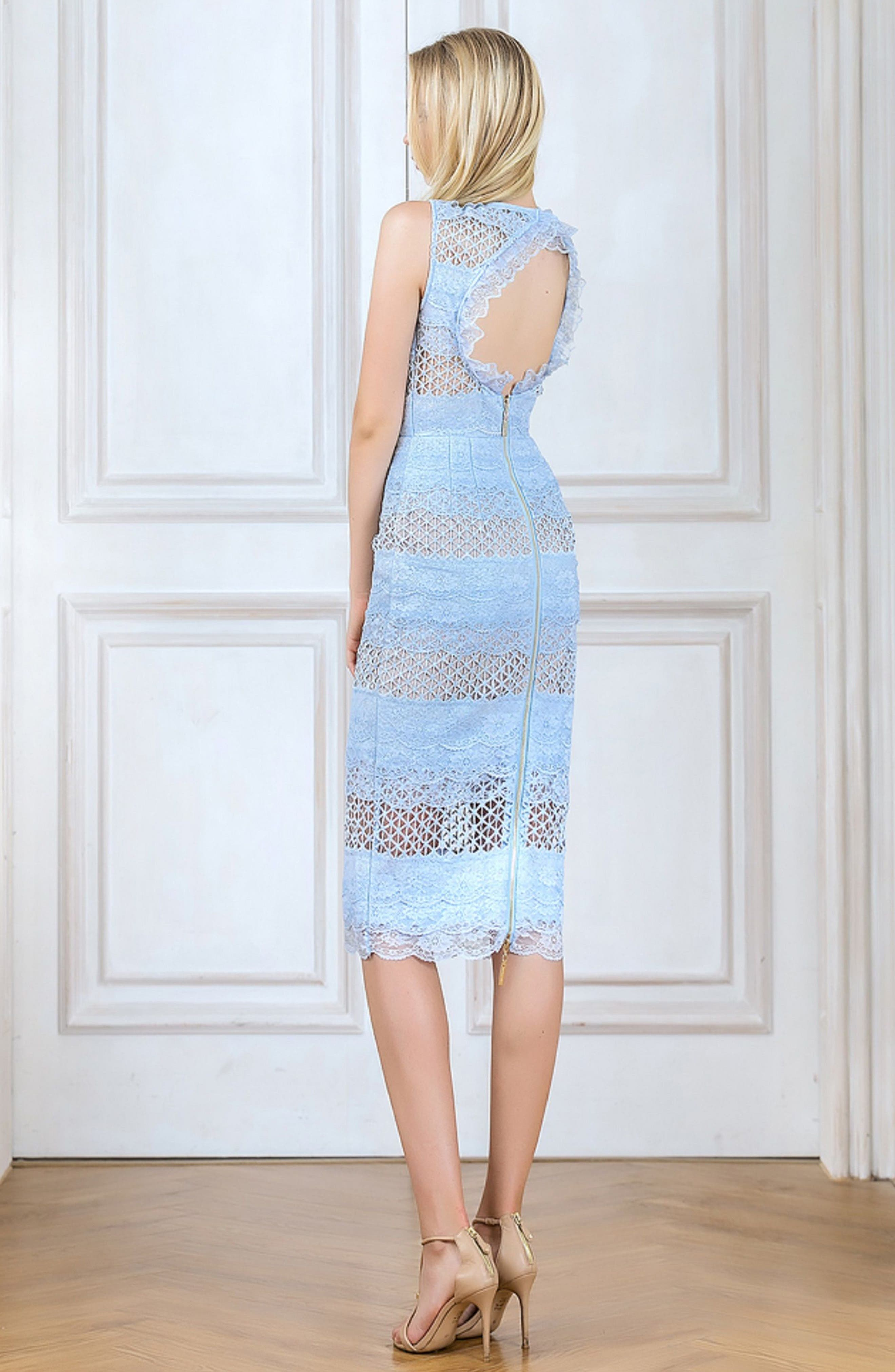 Sienna Lace Panel Sheath Dress,                             Alternate thumbnail 10, color,