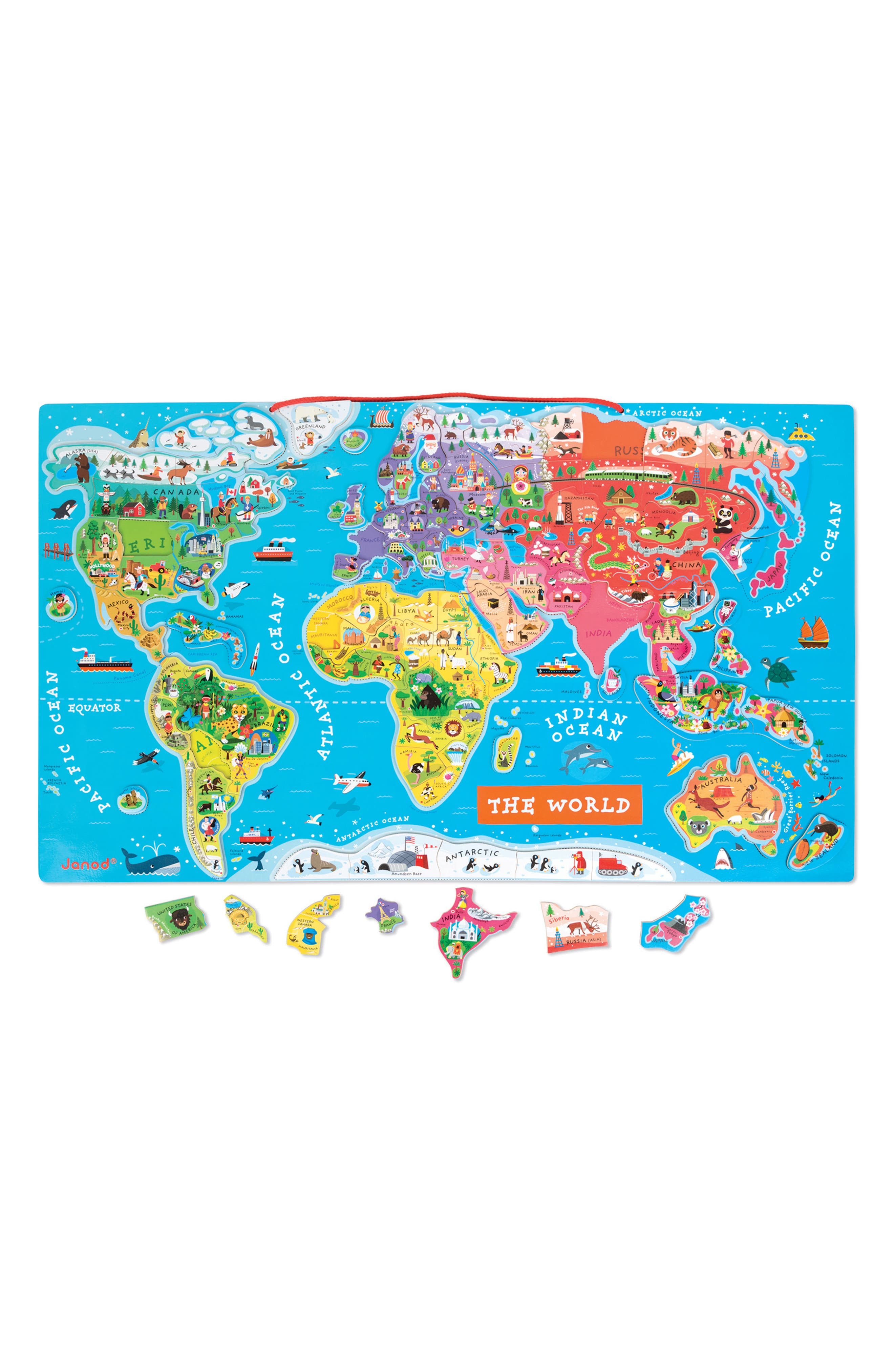 93-Piece Magnetic World Map,                             Alternate thumbnail 3, color,                             NO COLOR