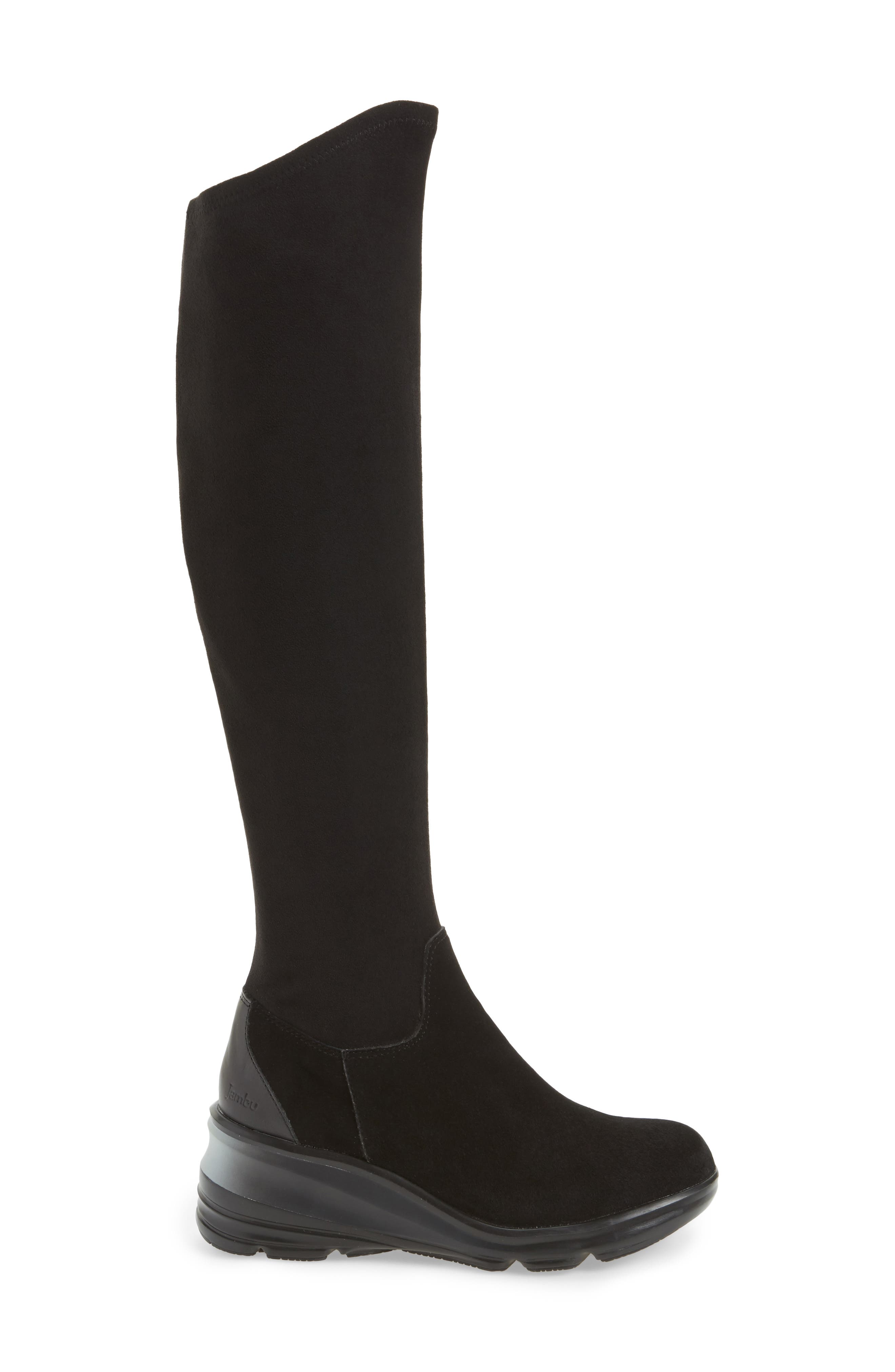 Kendra Over the Knee Water-Resistant Boot,                             Alternate thumbnail 3, color,                             001