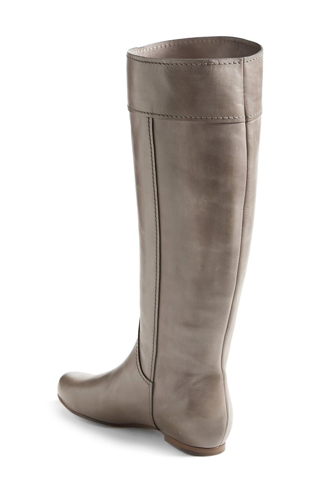 'Heloise' Tall Calfskin Leather Boot,                             Alternate thumbnail 4, color,                             020