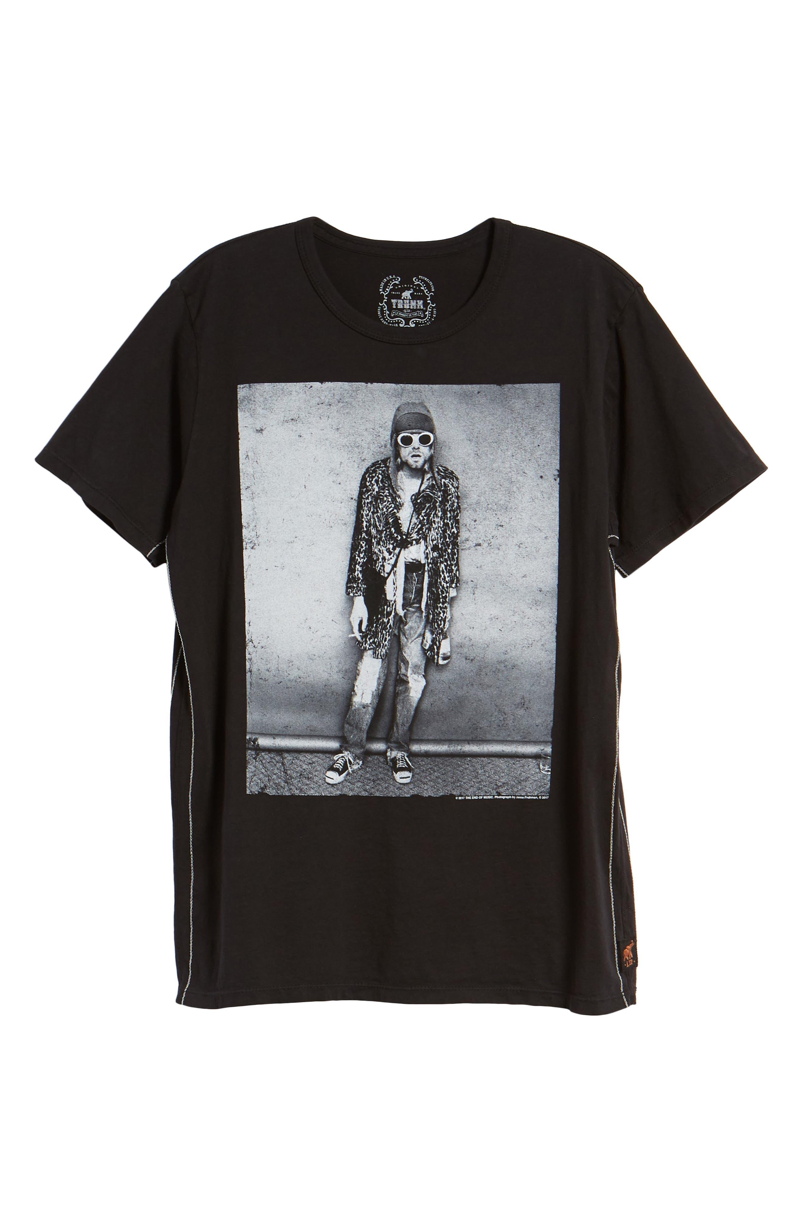 Kurt Cobain Classic T-Shirt,                             Alternate thumbnail 6, color,                             001