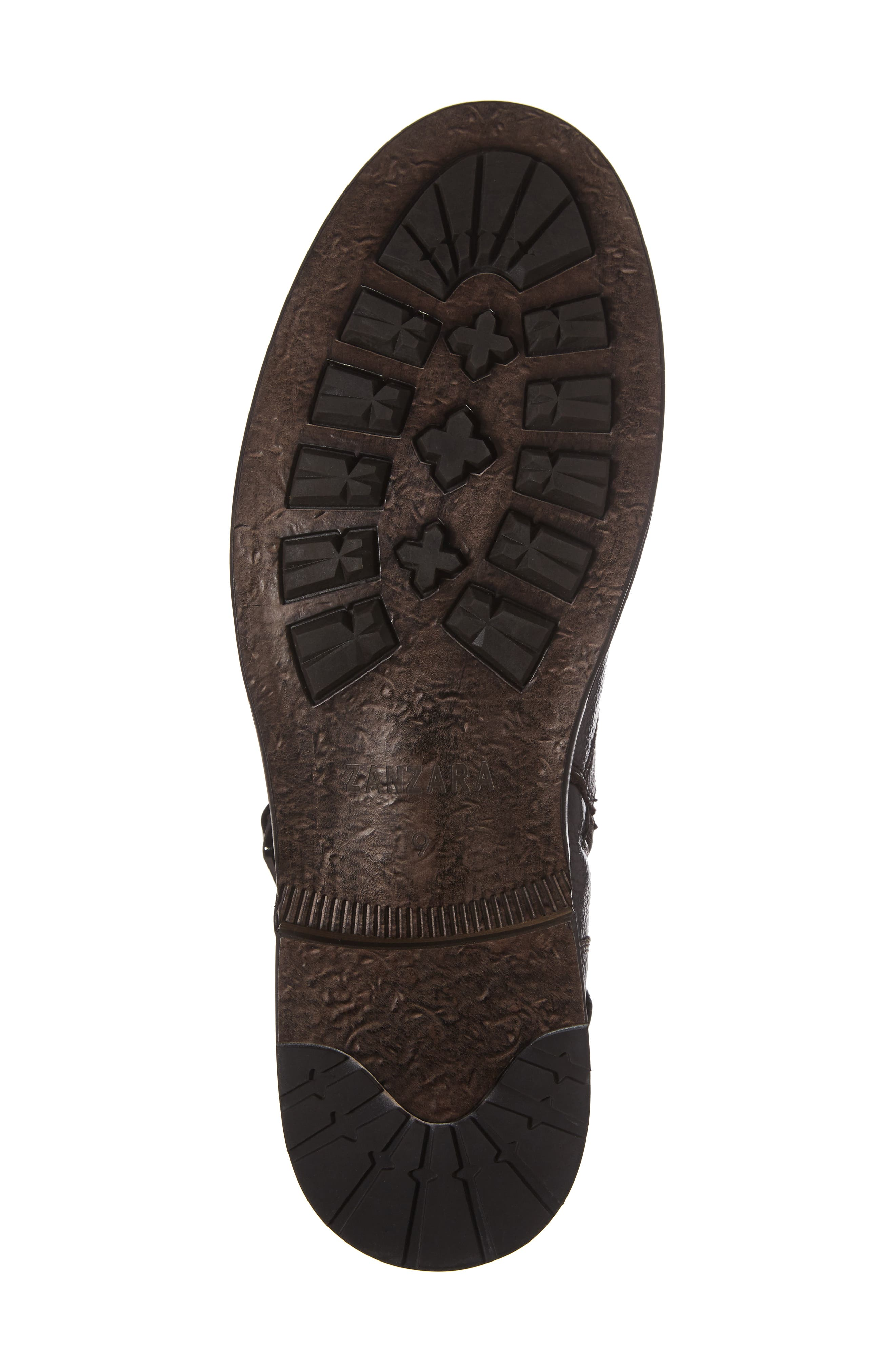 Howson Buckle Strap Boot,                             Alternate thumbnail 6, color,                             BROWN LEATHER