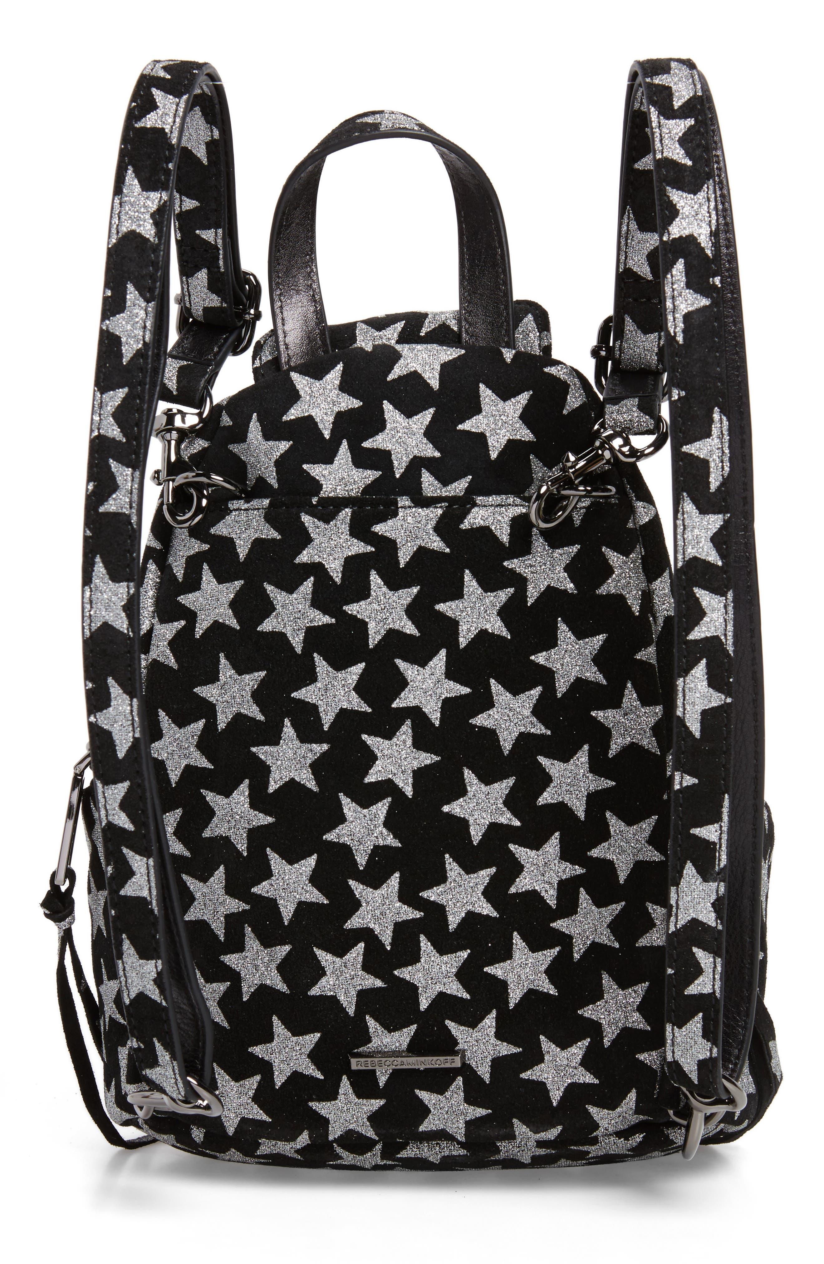 Mini Julian Metallic Star Nubuck Leather Convertible Backpack,                             Alternate thumbnail 3, color,