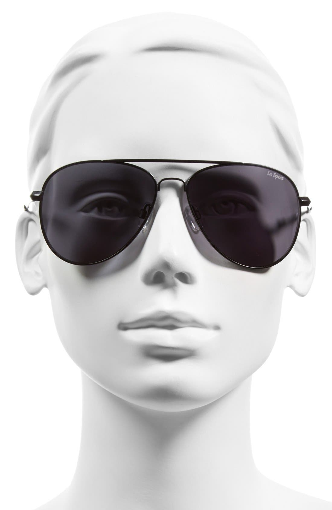 'Drop Top' 60mm Aviator Sunglasses,                             Alternate thumbnail 2, color,                             001