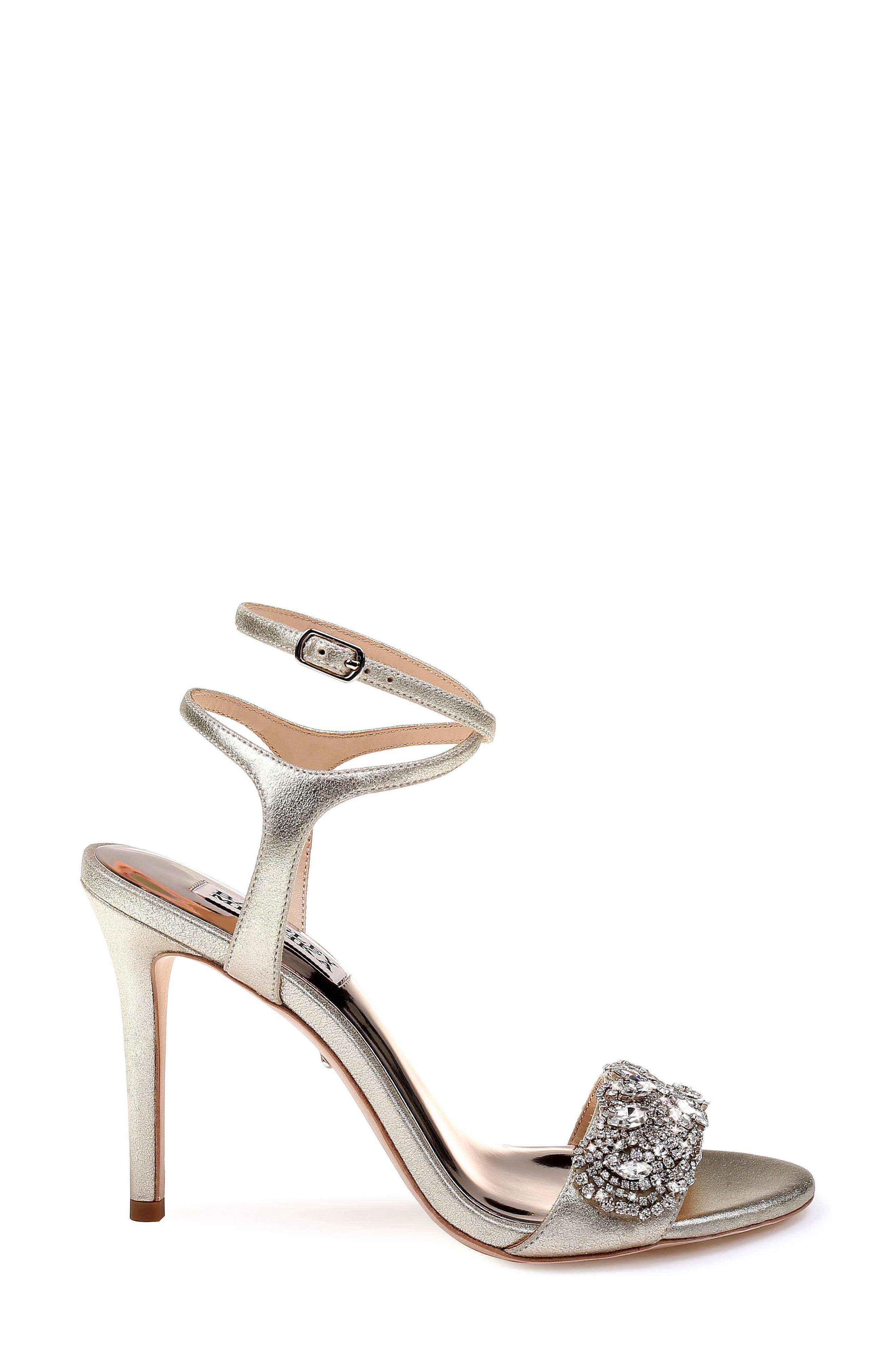 Hailey Embellished Ankle Strap Sandal,                             Alternate thumbnail 3, color,                             040