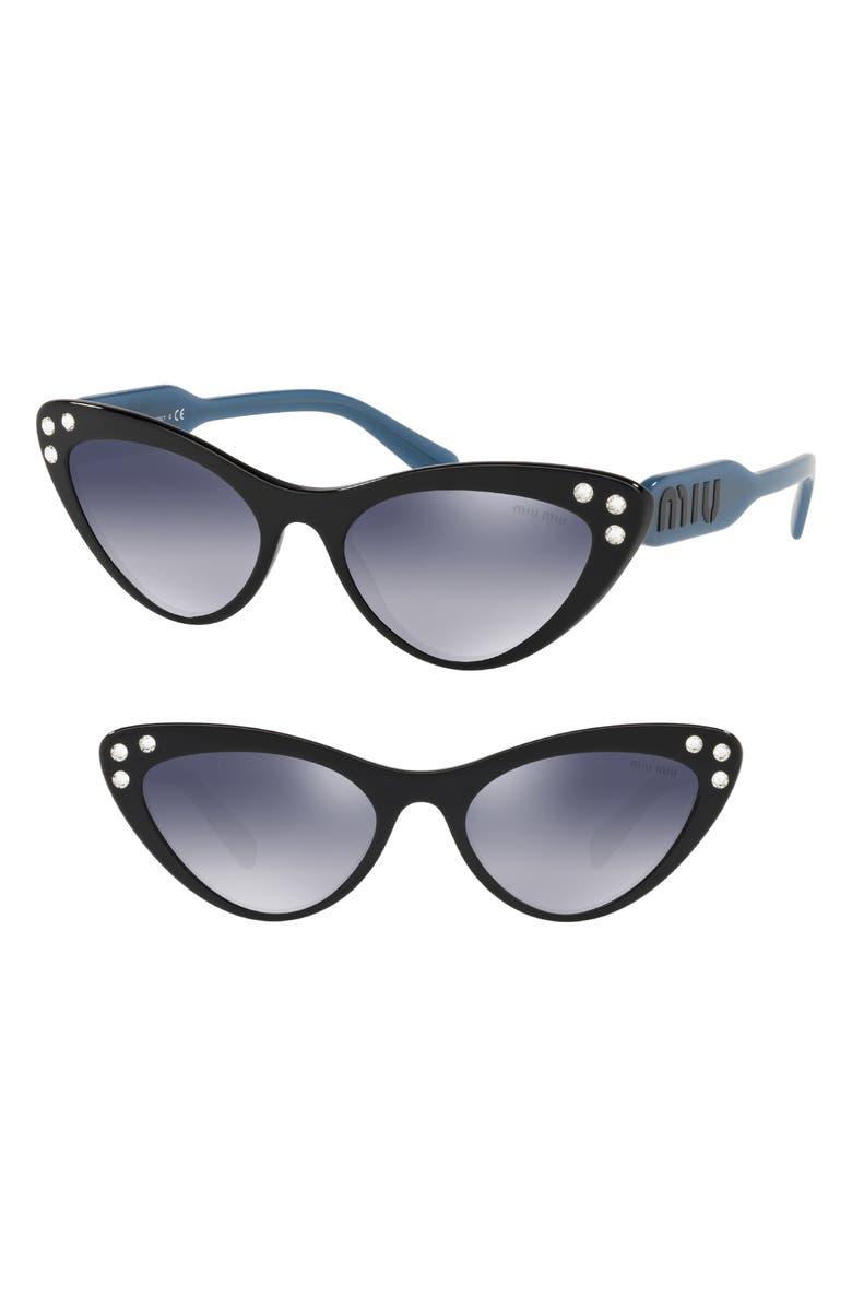 85ae53cff81 Miu Miu Logomania 55mm Cat Eye Sunglasses