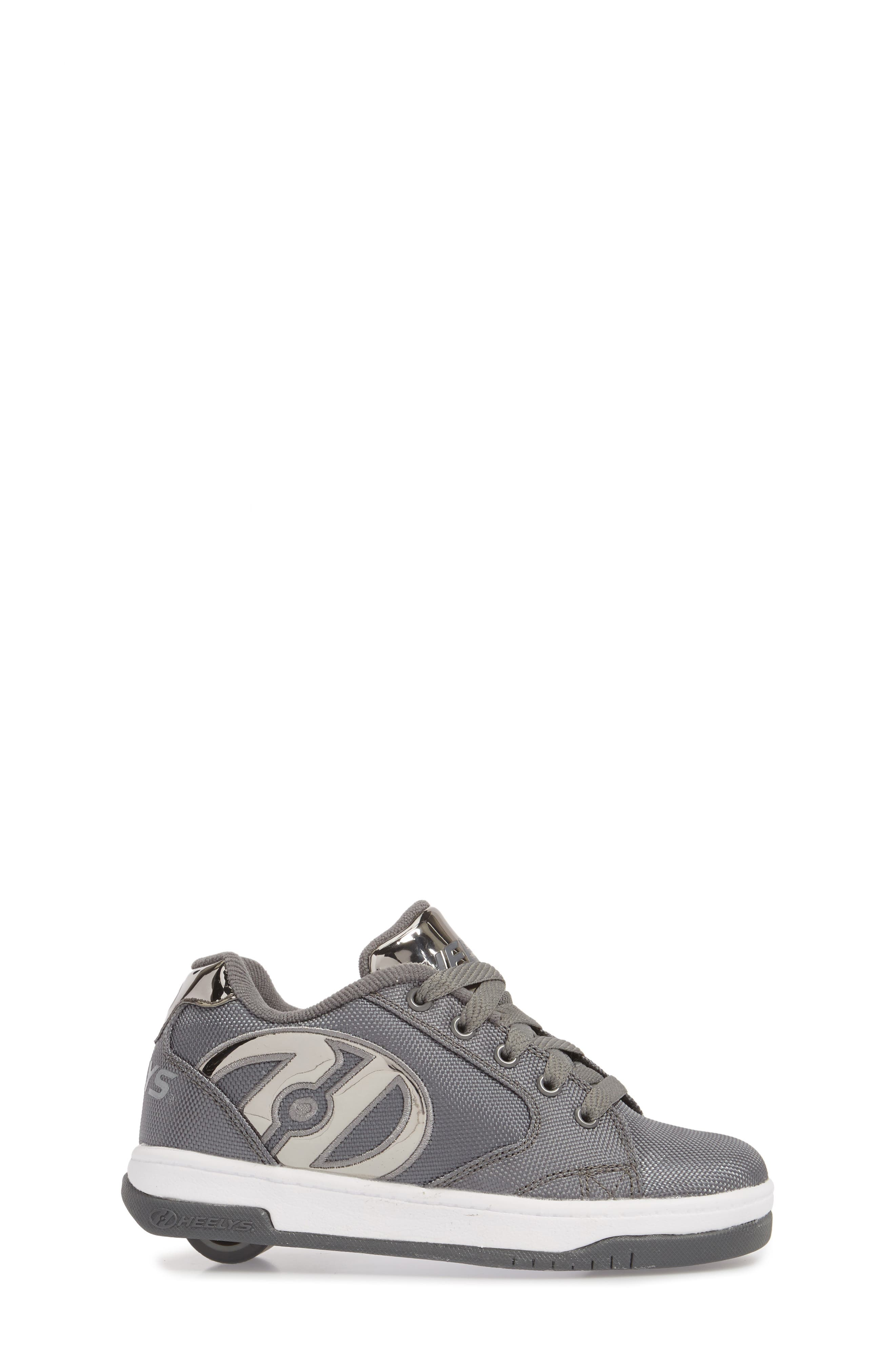 Heels Propel Ballistic Sneaker,                             Alternate thumbnail 3, color,                             CHARCOAL/ PEWTER