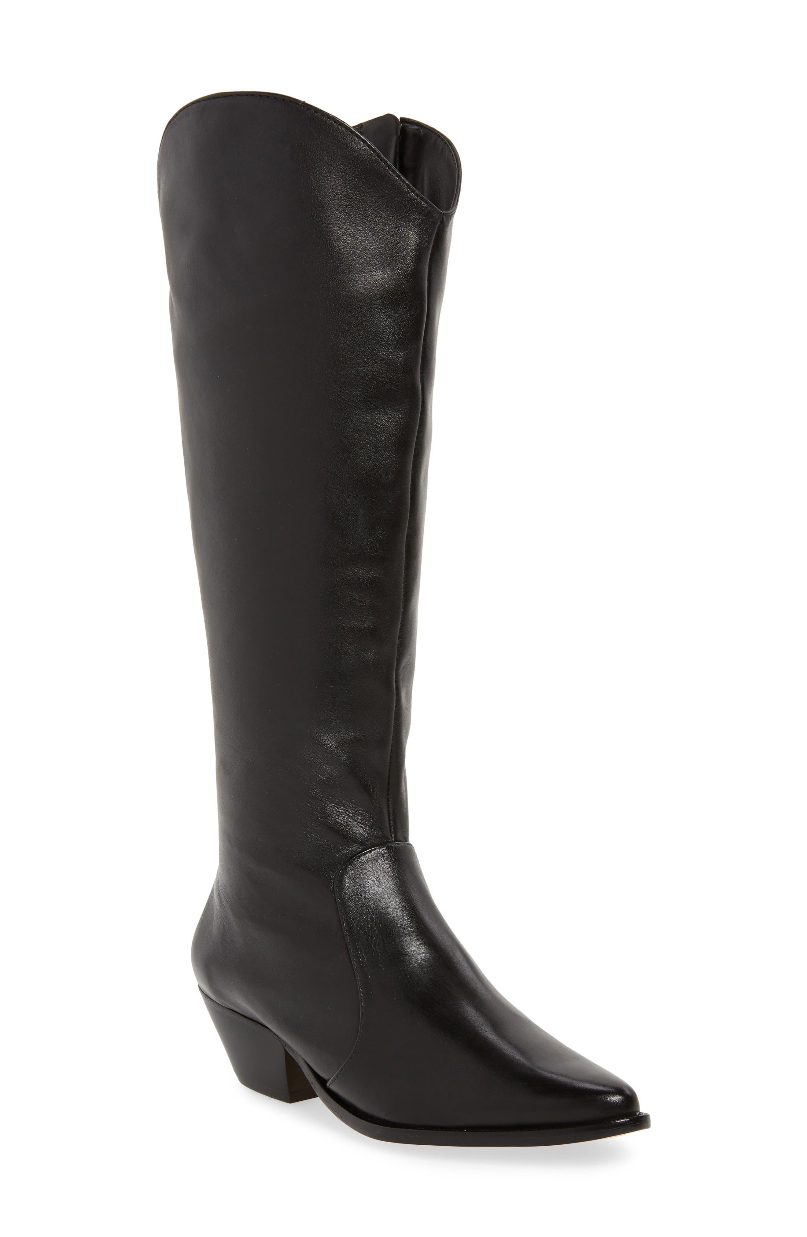 Fantinne Knee High Boot,                         Main,                         color, BLACK LEATHER