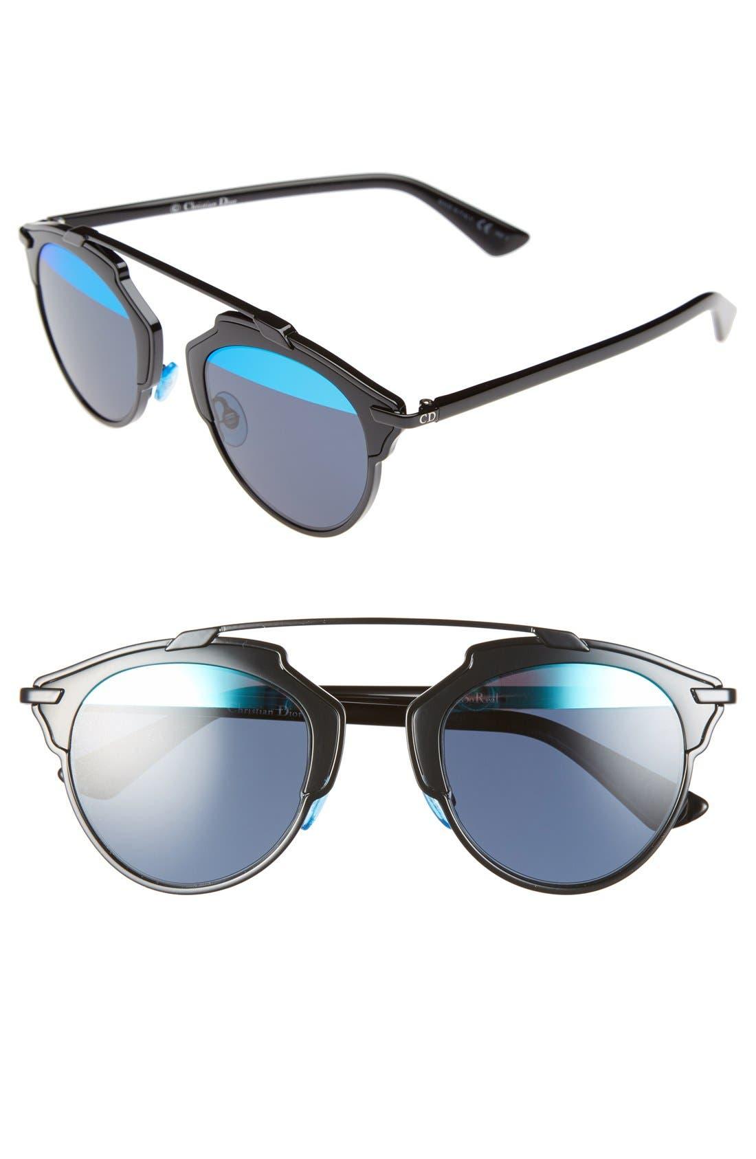 So Real 48mm Brow Bar Sunglasses,                             Main thumbnail 3, color,