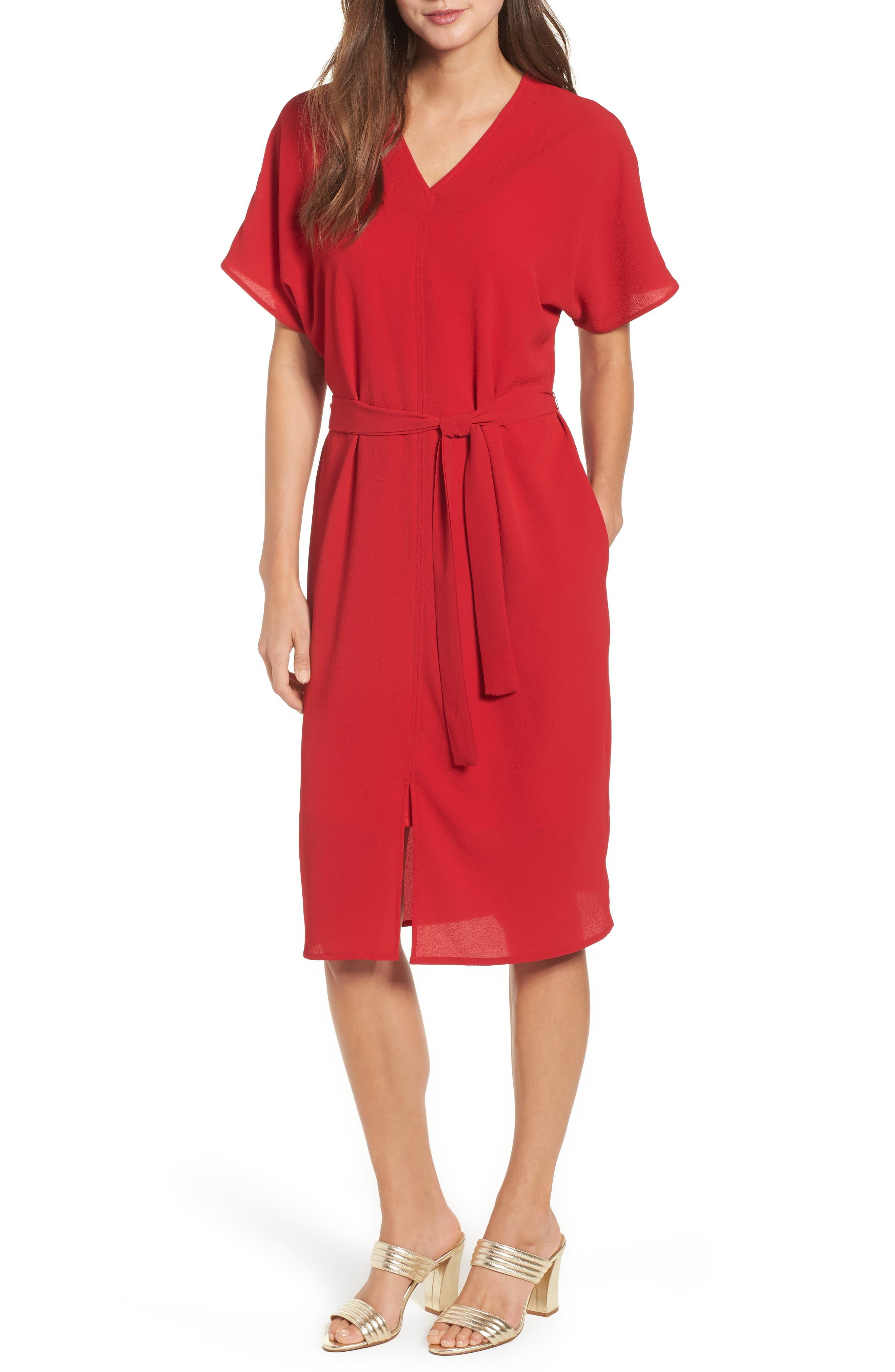 Stretch Crepe Dress,                             Main thumbnail 4, color,
