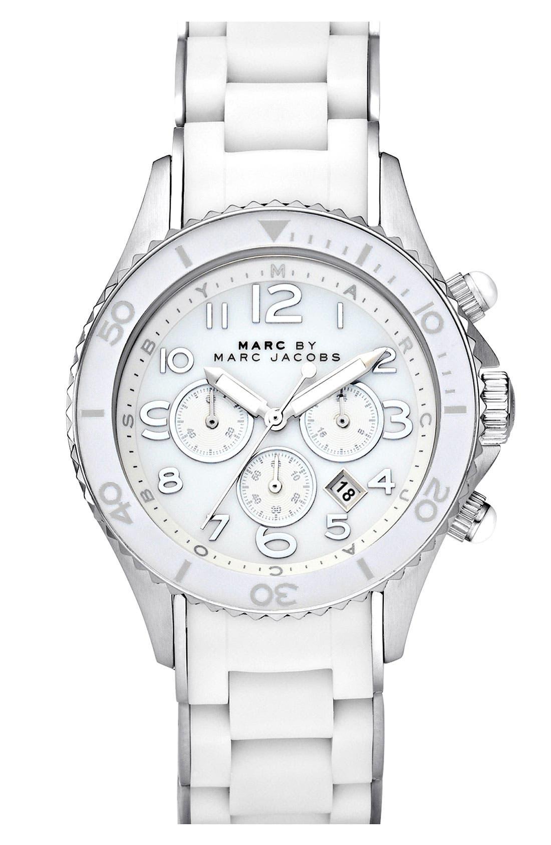'Rock' Chronograph Silicone Bracelet Watch, 40mm,                             Main thumbnail 4, color,