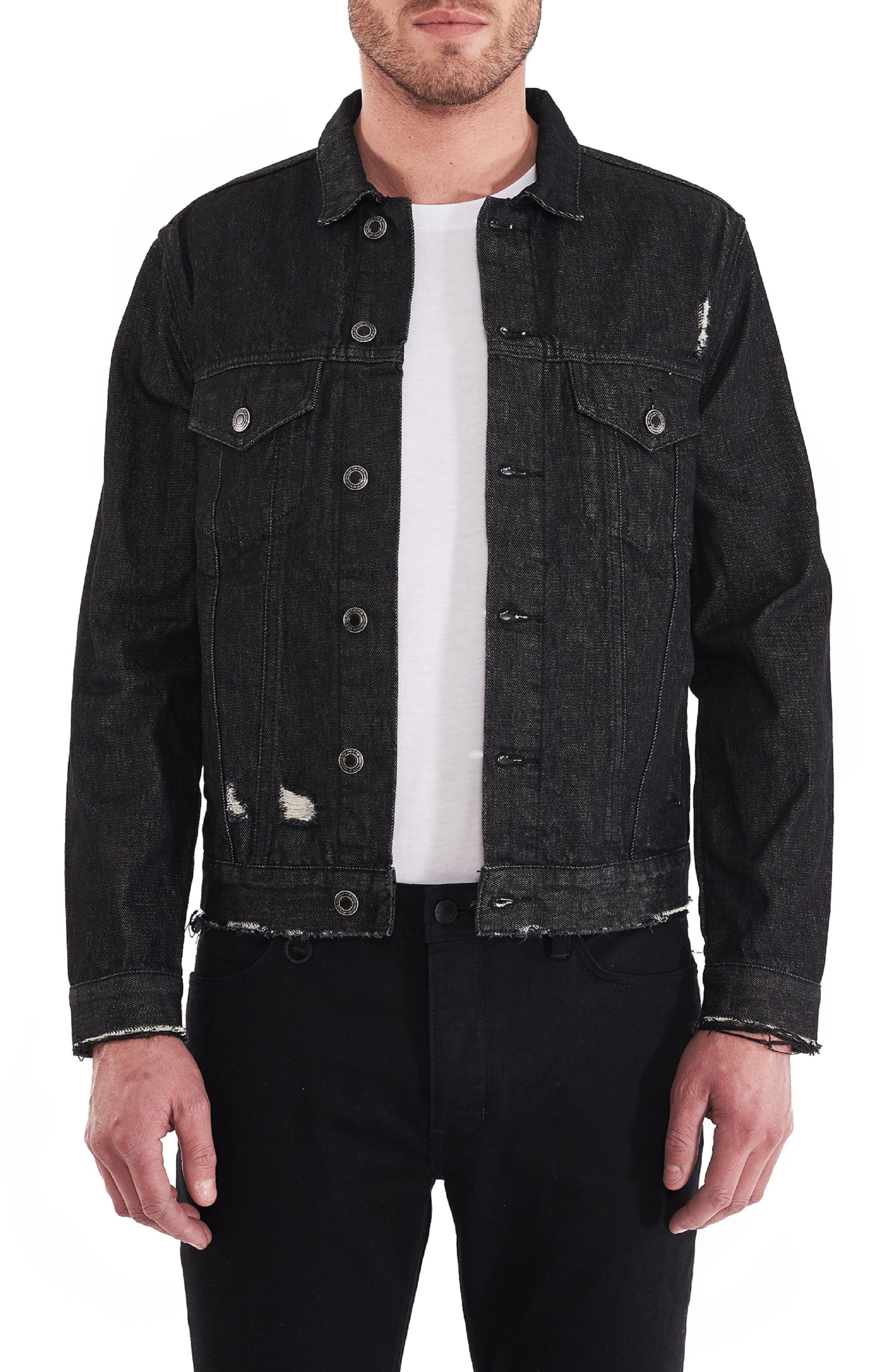 Type One Black Label Denim Jacket,                             Main thumbnail 1, color,                             BLACK LABEL