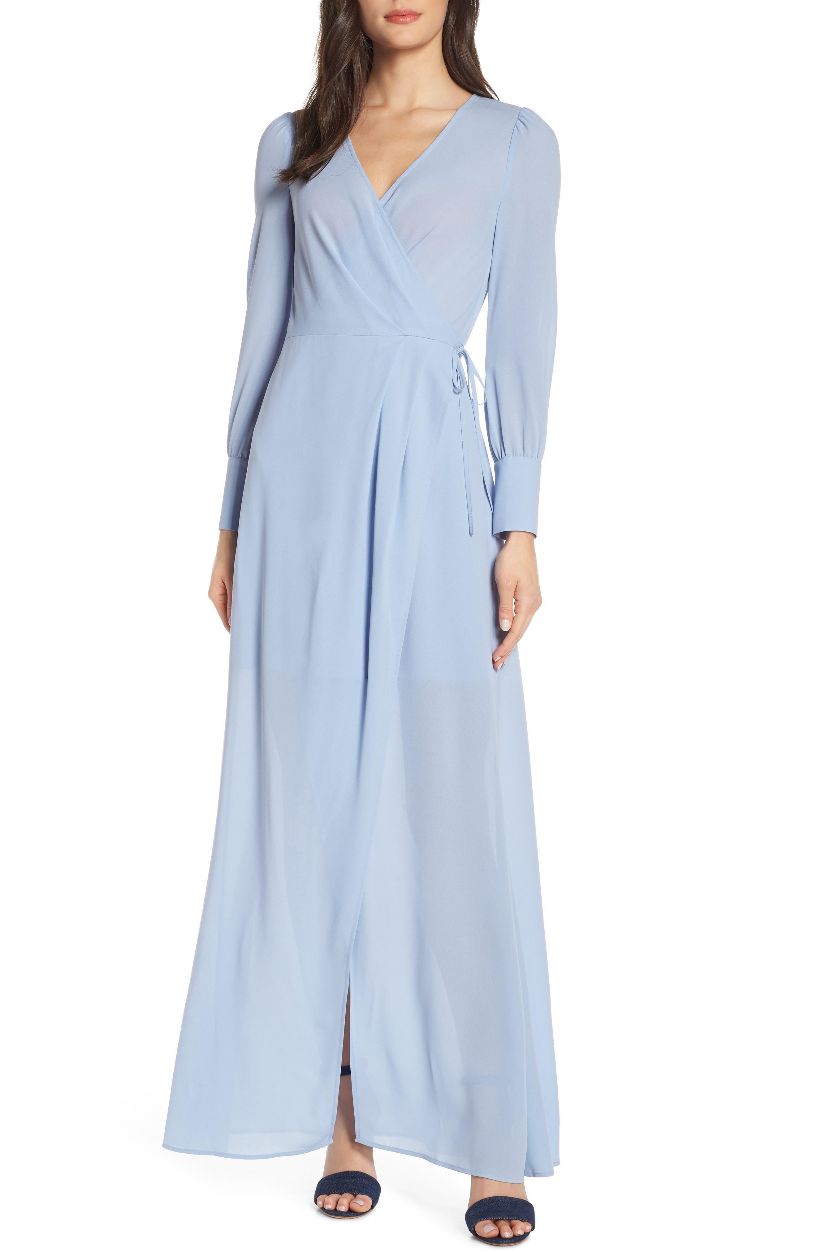 Ali & Jay Garden Stroll Wrap Maxi Dress, Blue