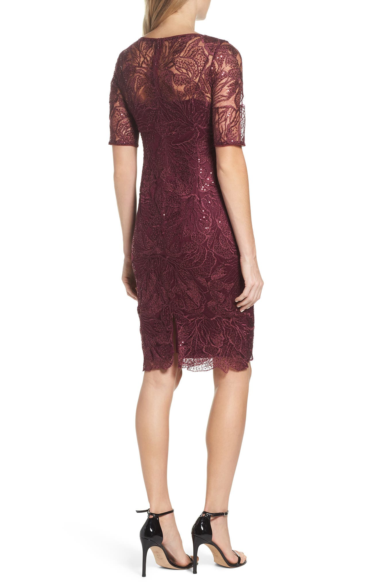 Sequin Embellished Sheath Dress,                             Alternate thumbnail 2, color,                             605