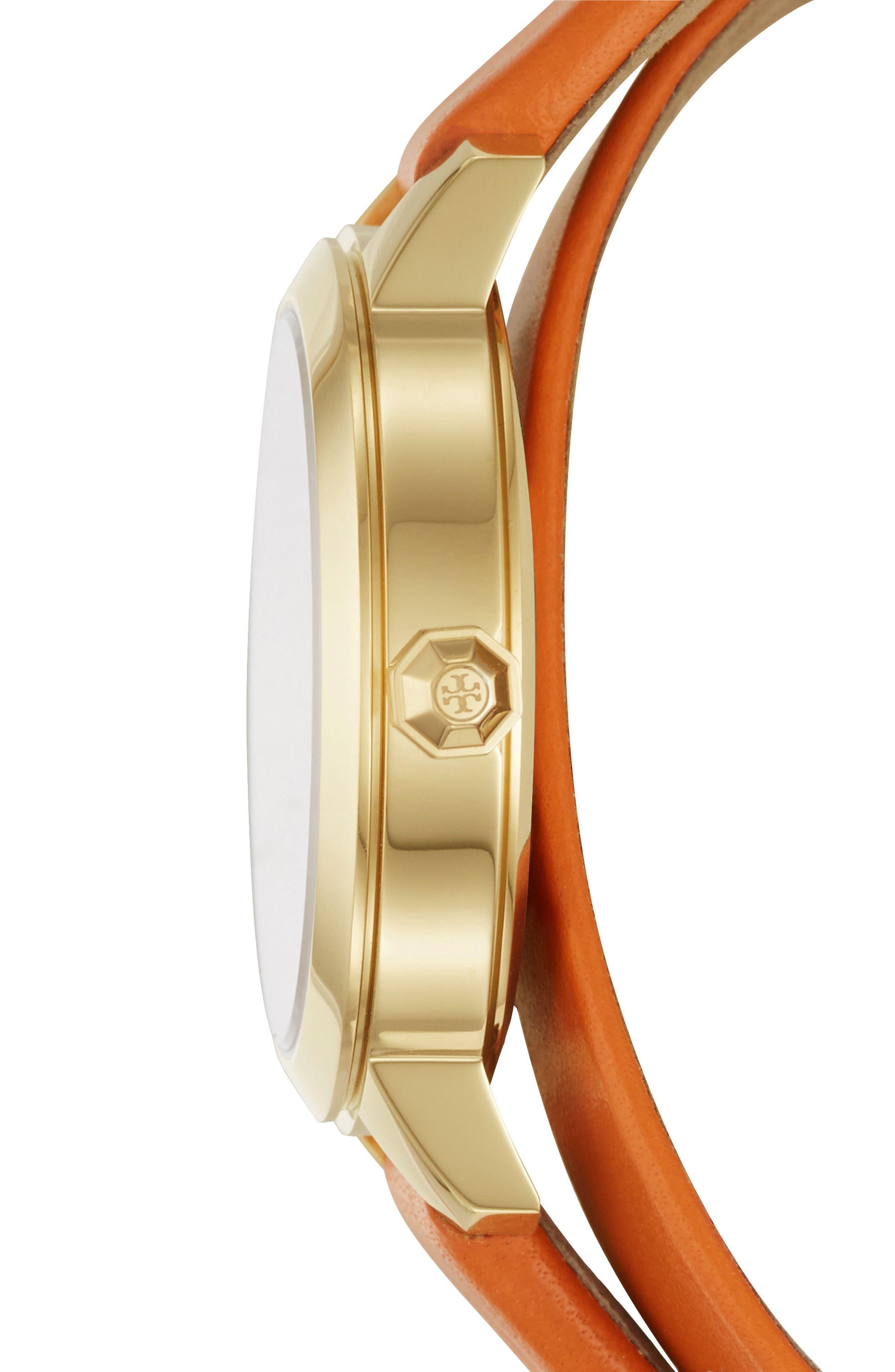 Collins Double Wrap Leather Strap Watch, 32mm,                             Alternate thumbnail 6, color,