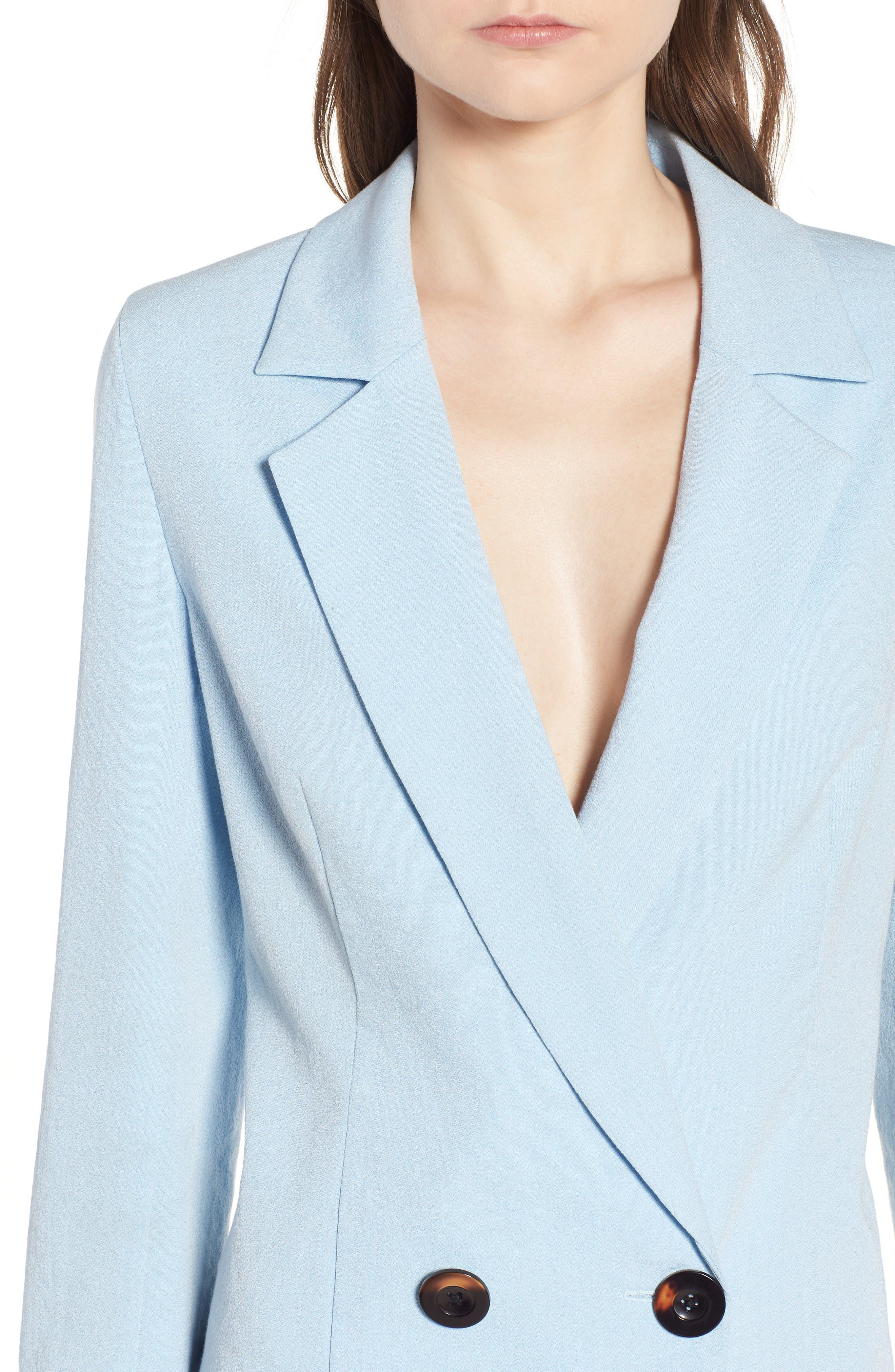 Kaia Blazer Dress,                             Alternate thumbnail 4, color,                             400