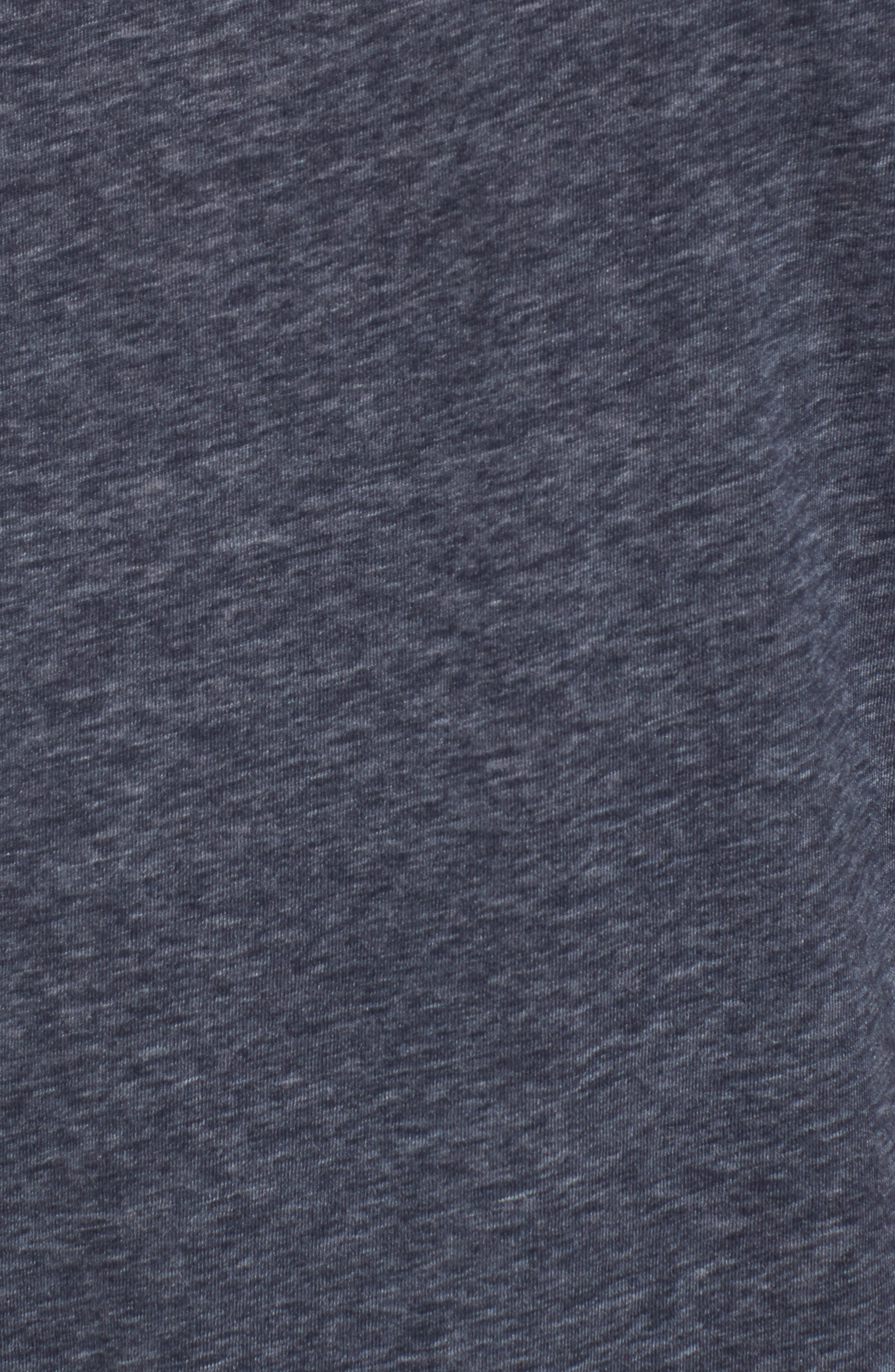 Recycled Cotton Blend T-Shirt,                             Alternate thumbnail 5, color,                             NAVY HEATHER