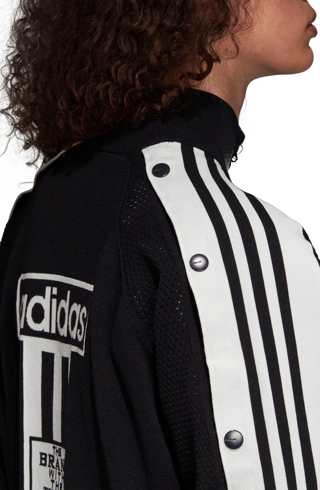 Adibreak Track Jacket,                             Alternate thumbnail 8, color,                             BLACK