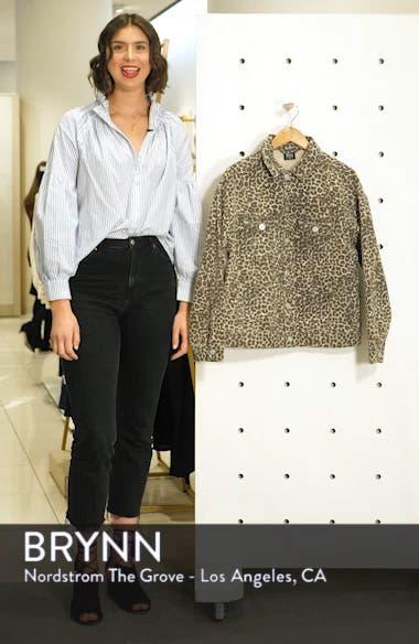 Urban Outfitters Leopard Denim Western Jacket, sales video thumbnail