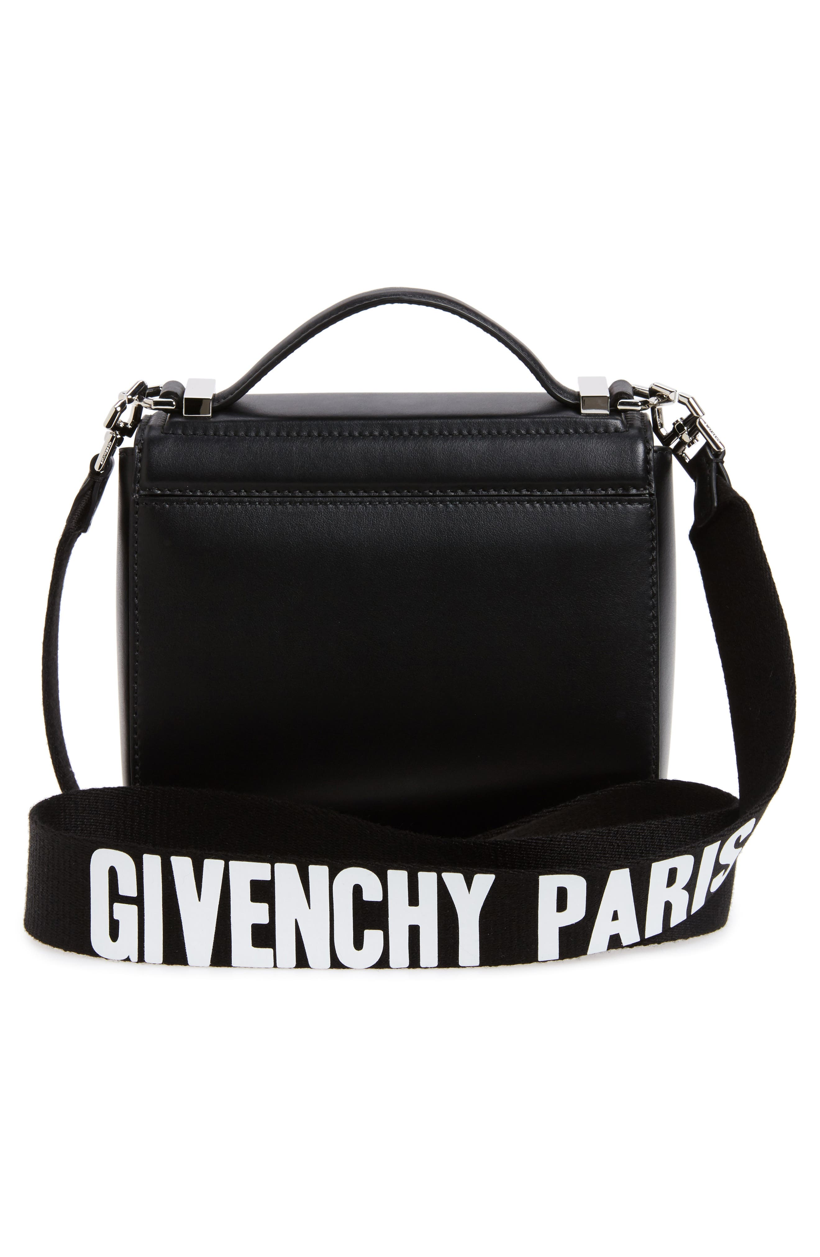 Mini Pandora Box Leather Shoulder Bag,                             Alternate thumbnail 4, color,                             001