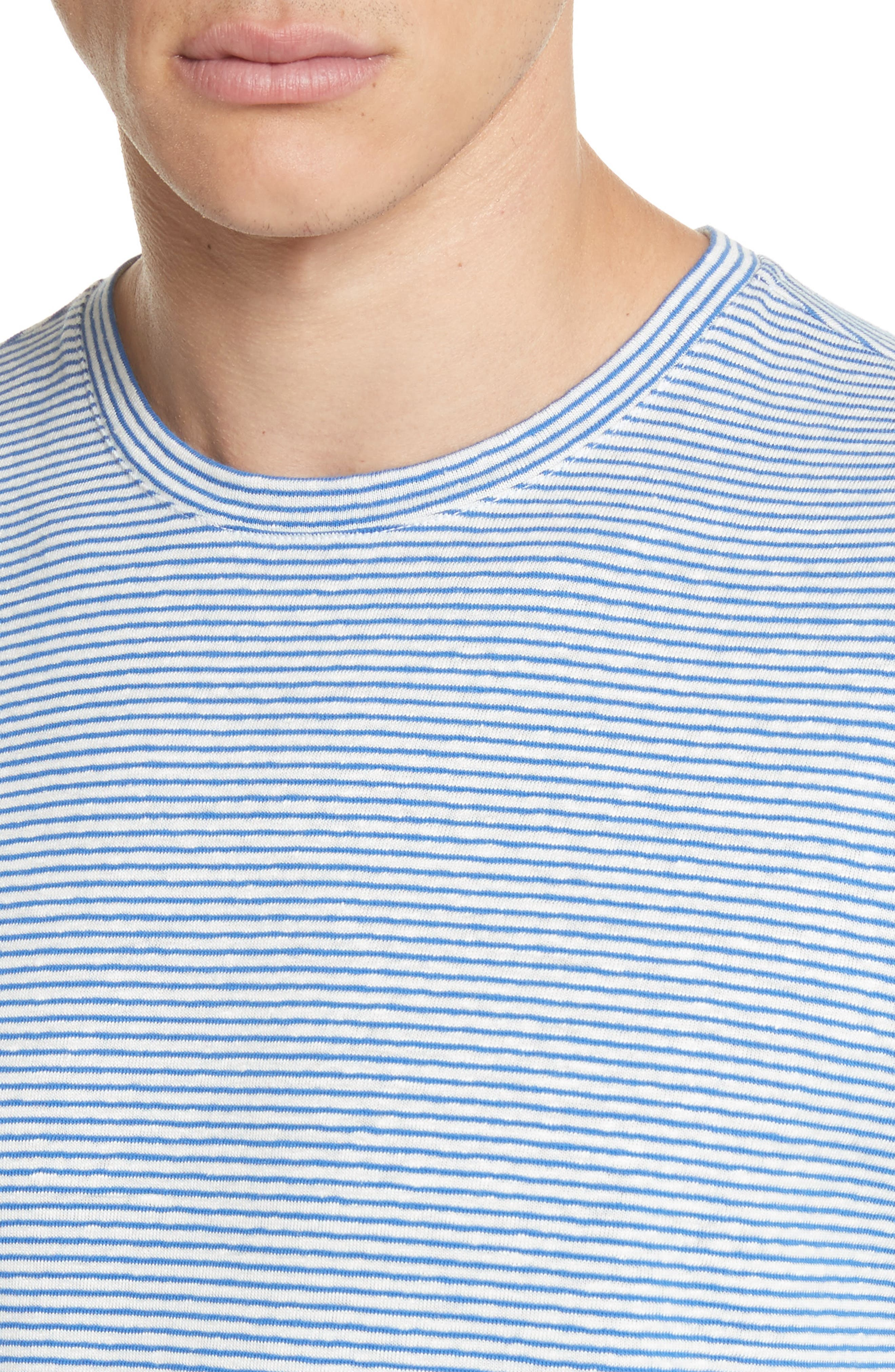 Jimmy Stripe T-Shirt,                             Alternate thumbnail 4, color,                             BLUE