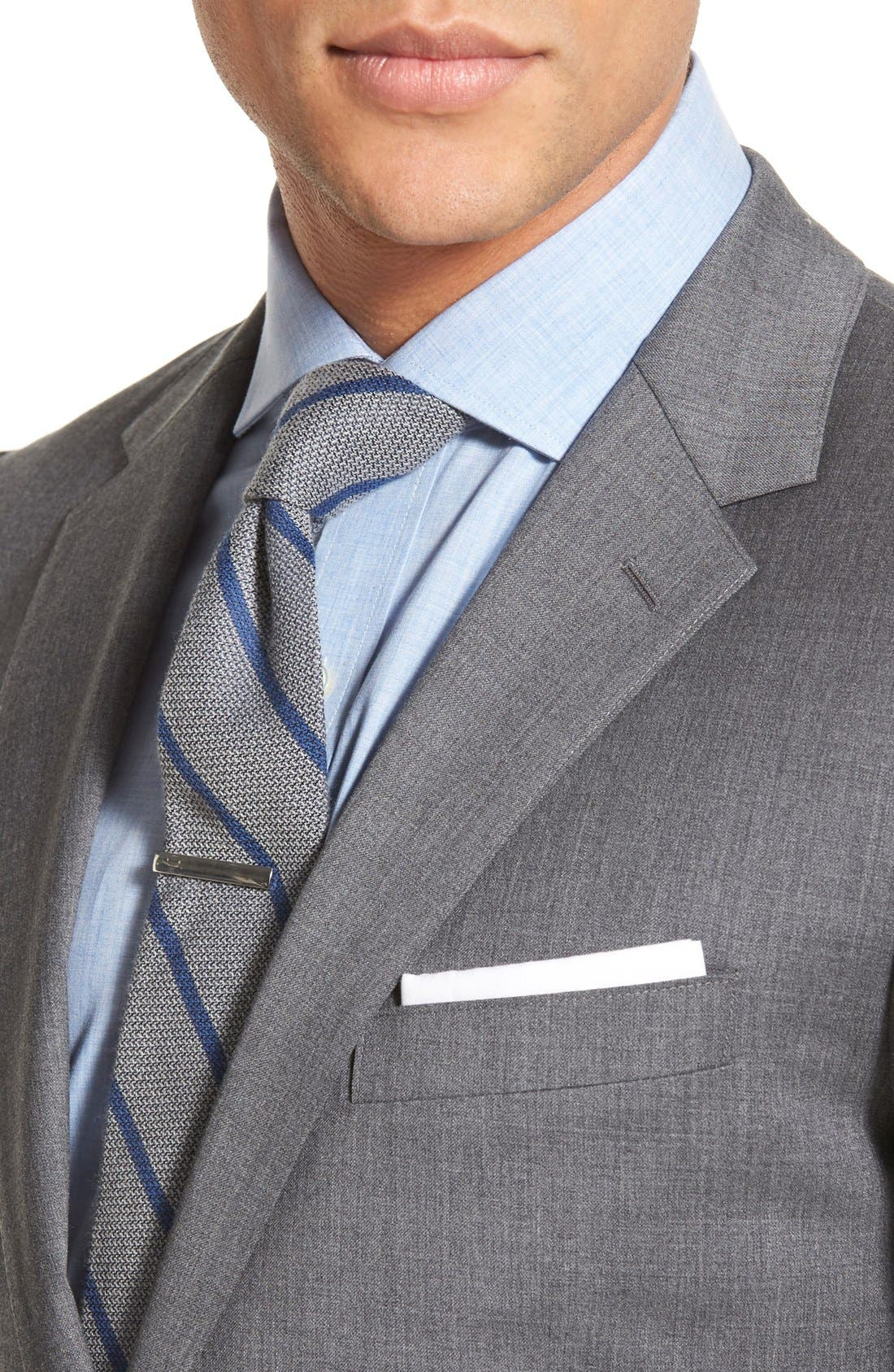 Trim Fit Solid Stretch Wool Sport Coat,                             Alternate thumbnail 5, color,