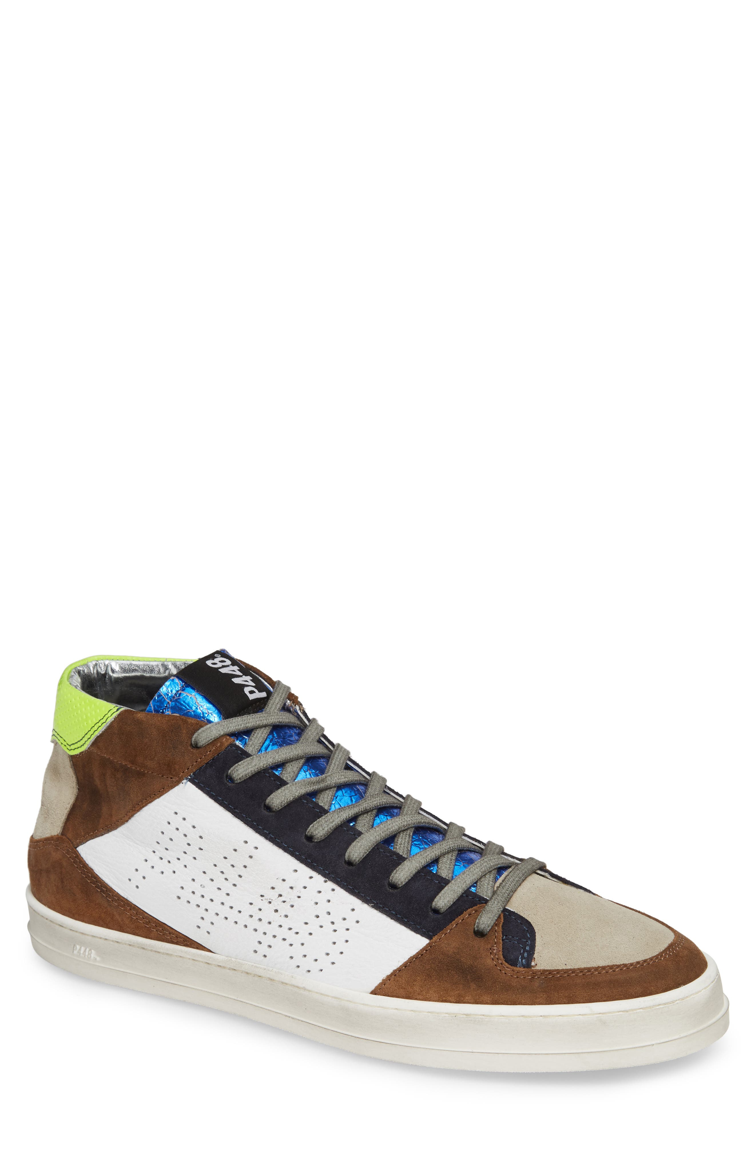 A8Queens Mid Top Sneaker,                         Main,                         color, YELLOW