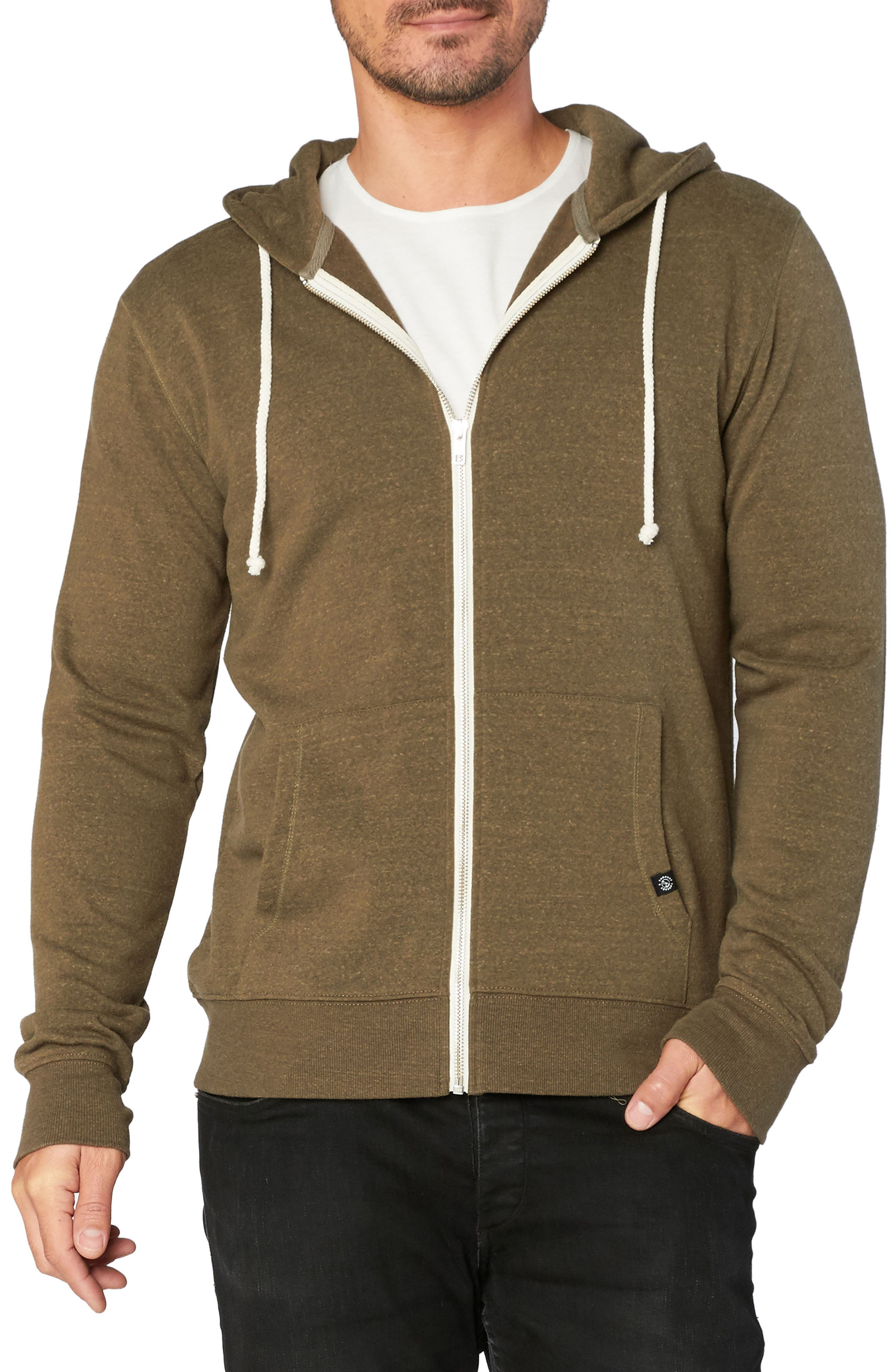 Threads for Thought Trim Fit Heathered Hoodie,                             Main thumbnail 6, color,