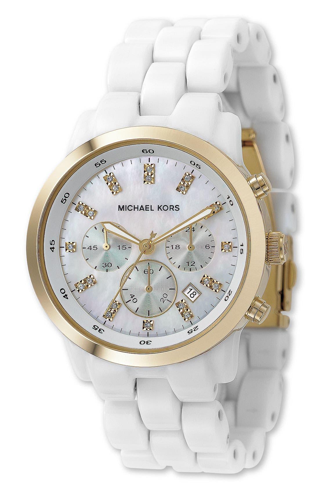Michael Kors Resin Chronograph Watch, 40mm, Main, color, 100