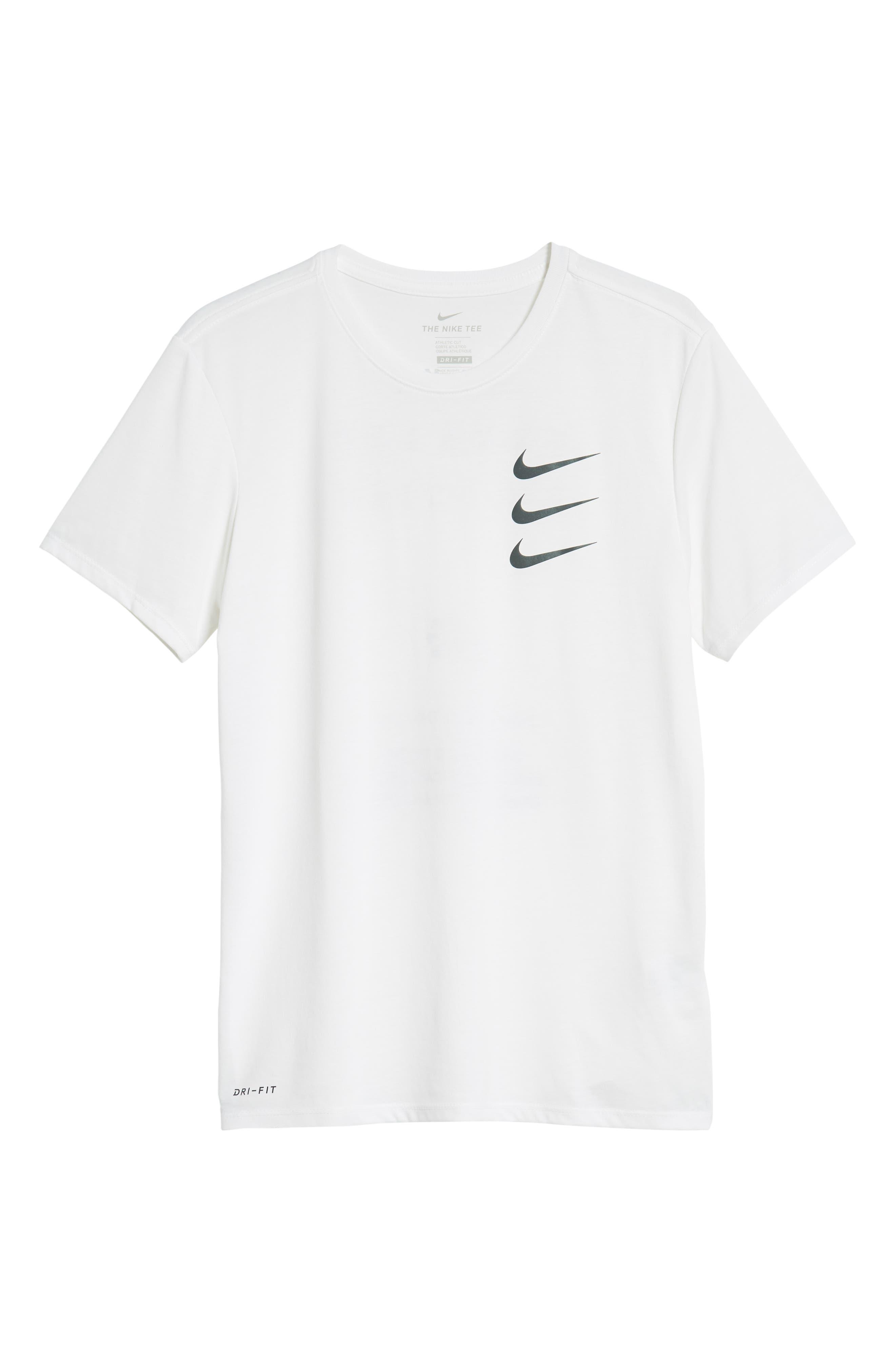 Dry Running Division T-Shirt,                             Alternate thumbnail 6, color,                             WHITE/ GUNSMOKE