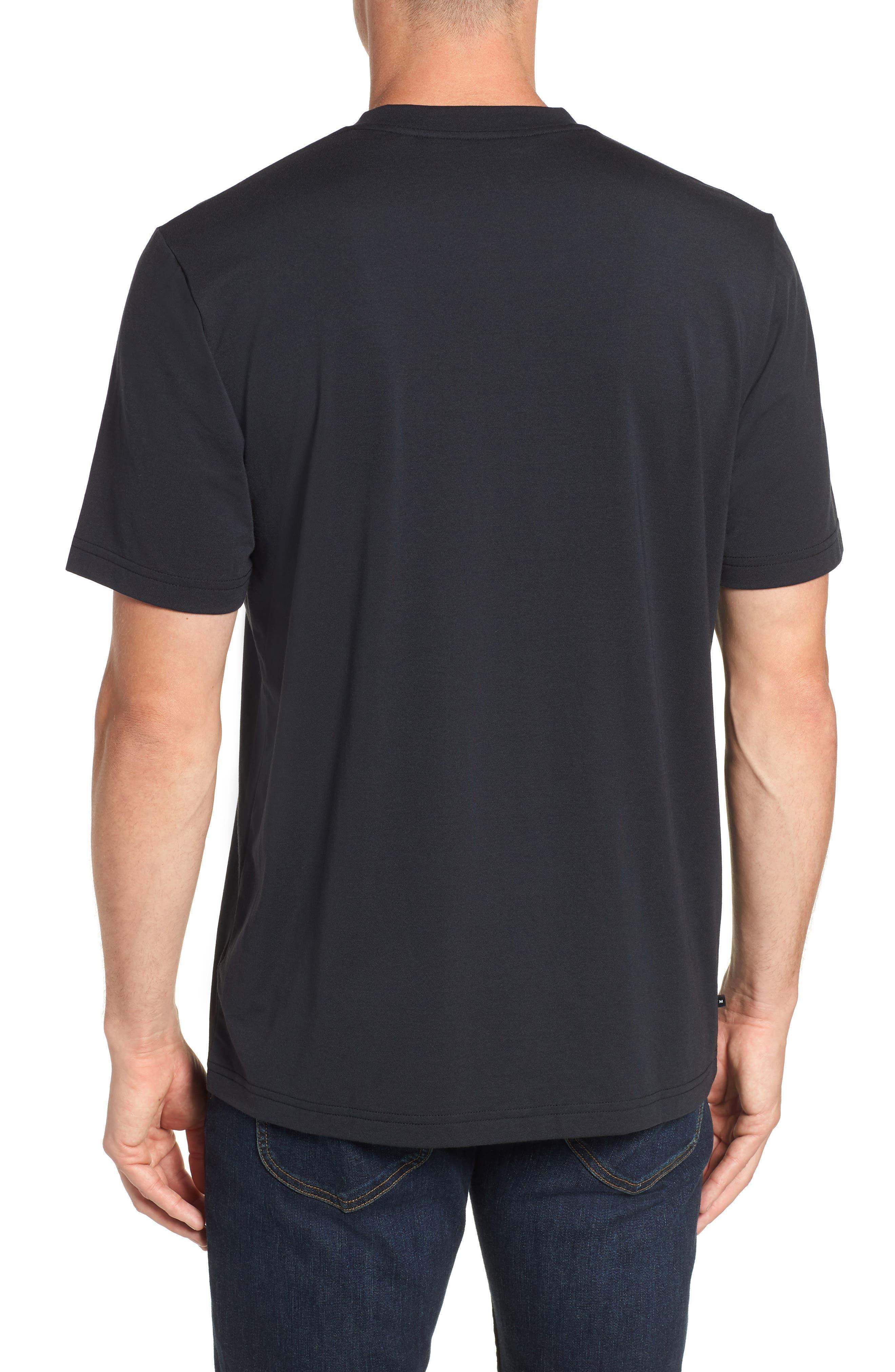Potholder V-Neck T-Shirt,                             Alternate thumbnail 2, color,                             BLACK