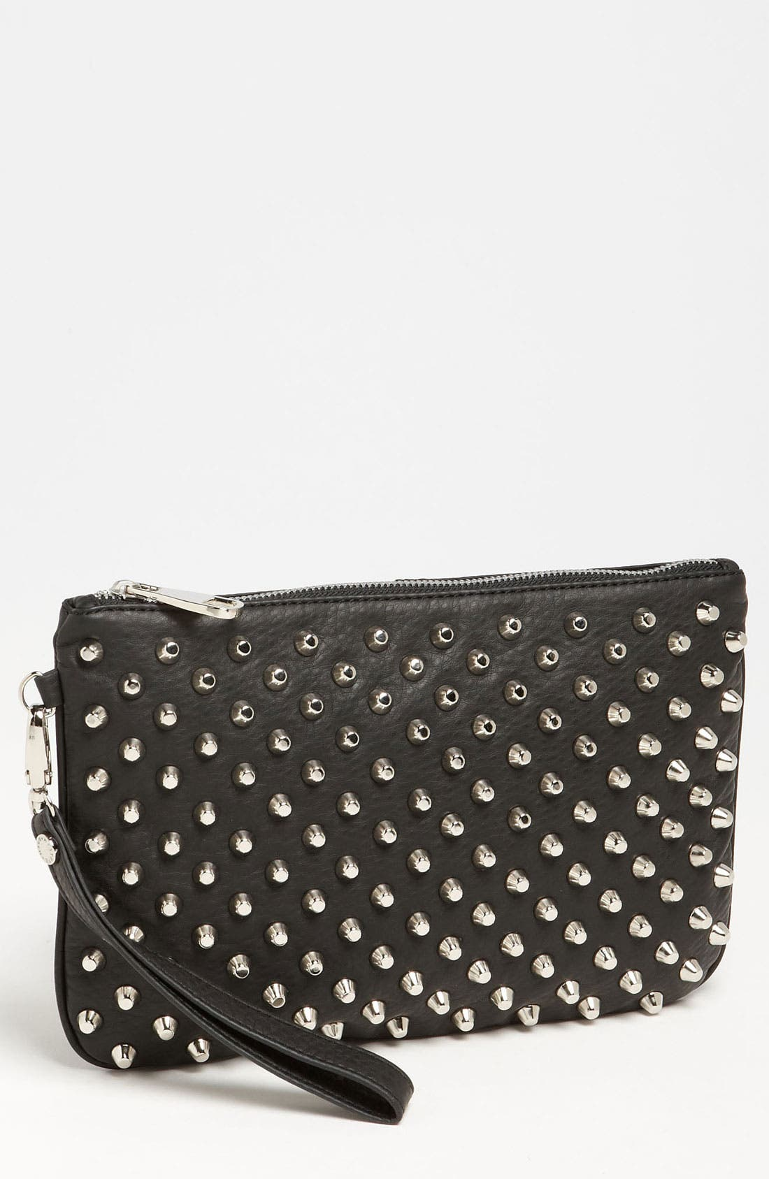 Steve Madden 'Stud Love - Small' Clutch, Main, color, 001