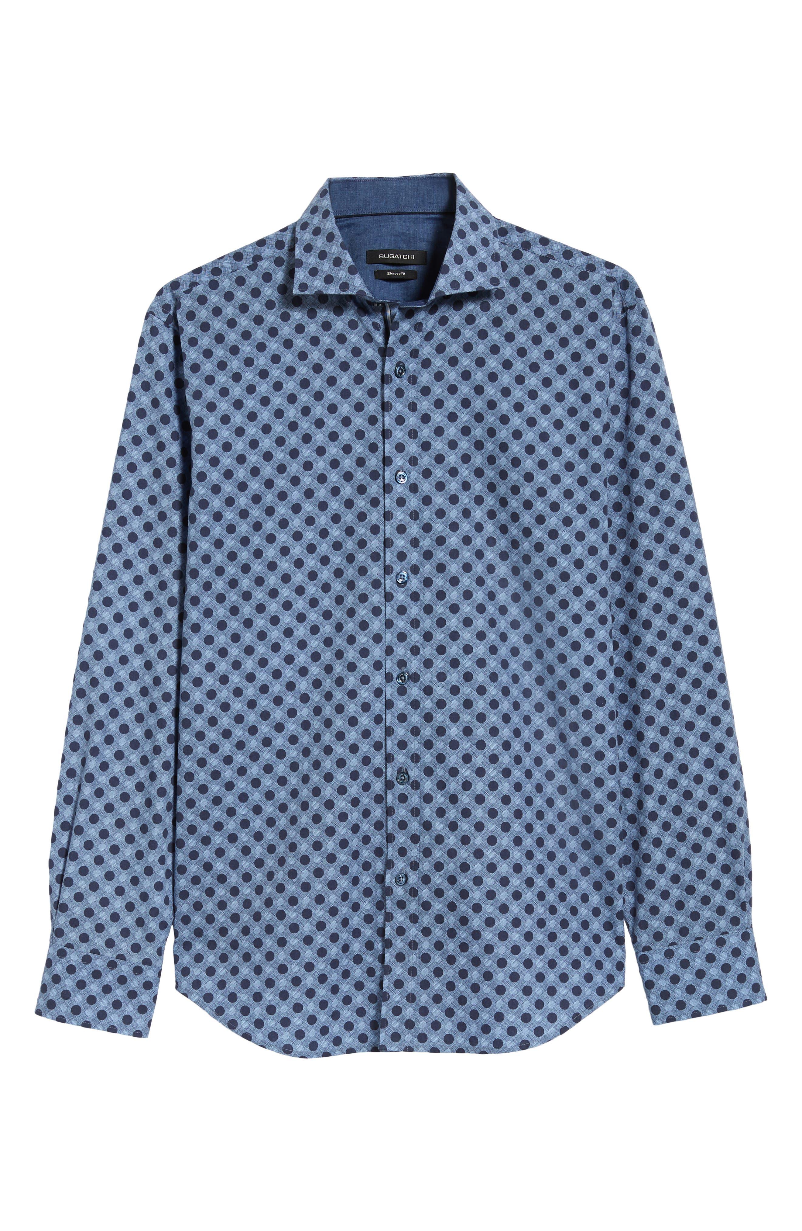 Regular Fit Plaid Sport Shirt,                             Alternate thumbnail 5, color,                             400