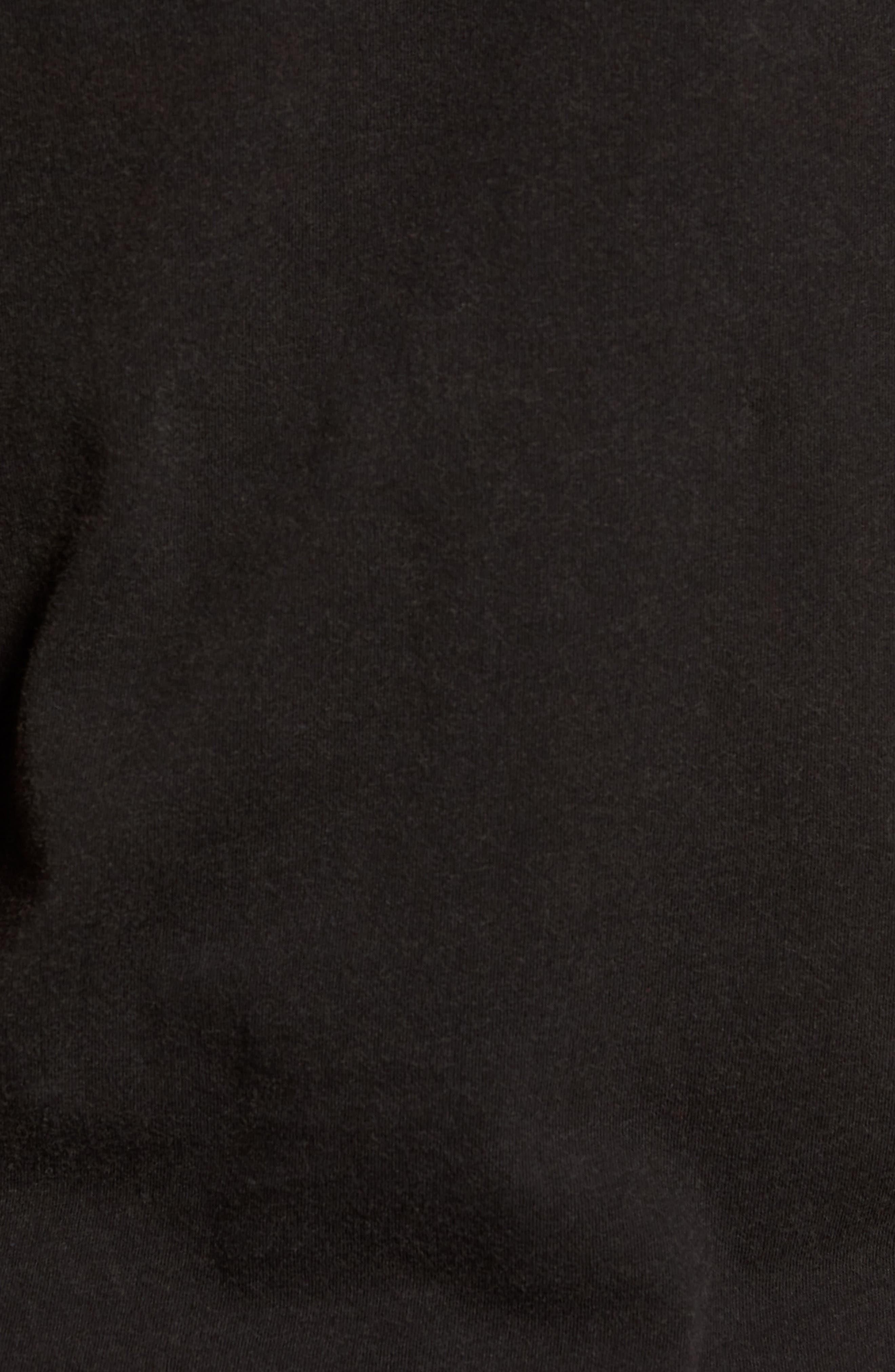 Skull Flag Crewneck T-Shirt,                             Alternate thumbnail 5, color,                             001