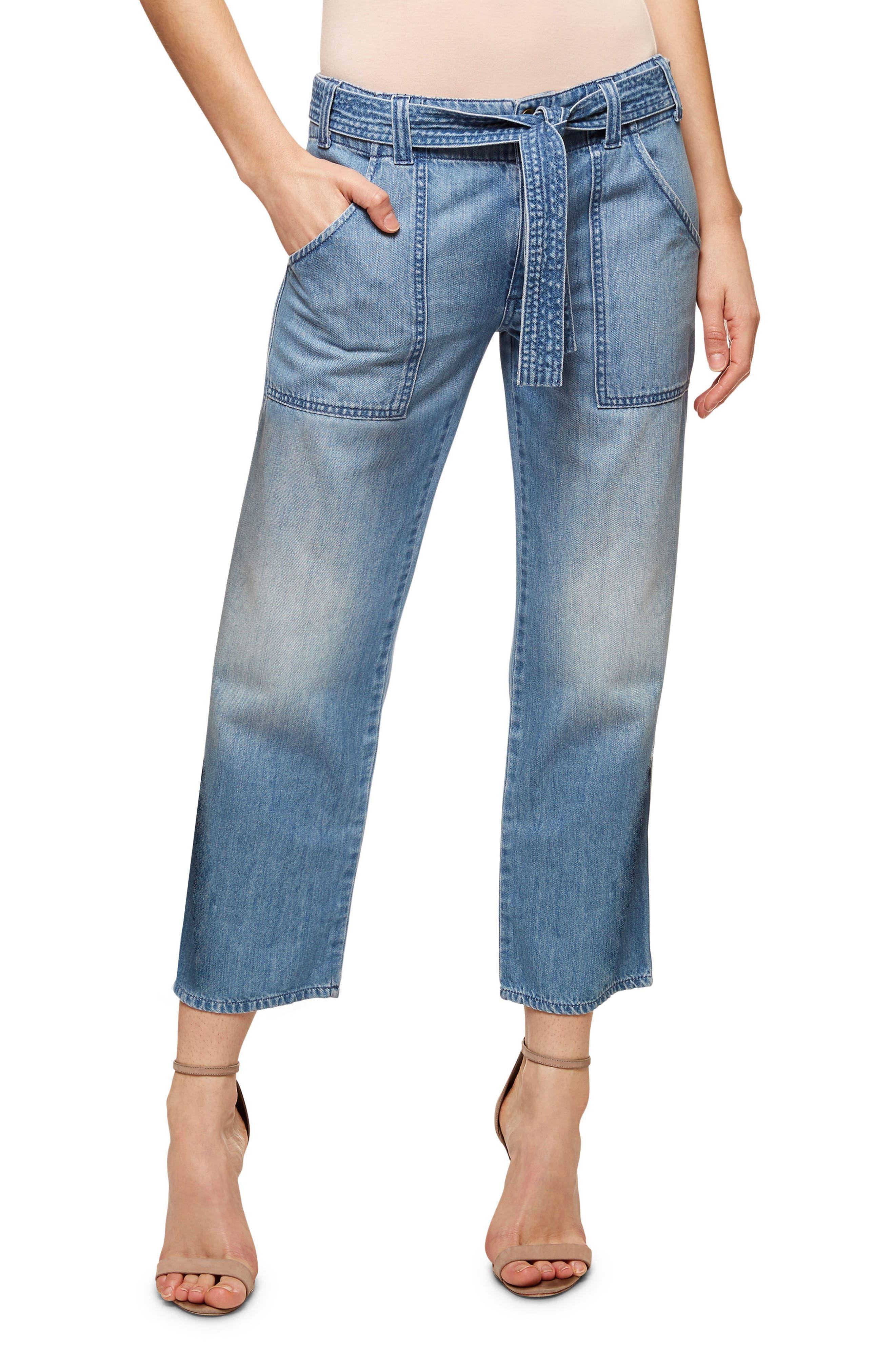 Karate Belted Crop Jeans,                         Main,                         color, 411