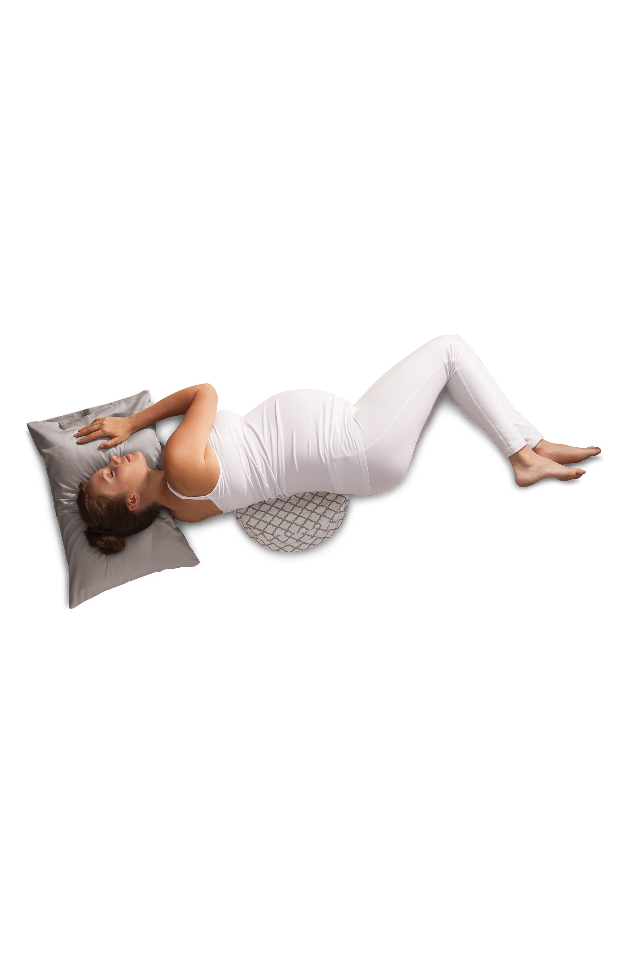 Pregnancy Wedge Cushion & Slipcover,                             Alternate thumbnail 6, color,                             WHITE TRELLIS