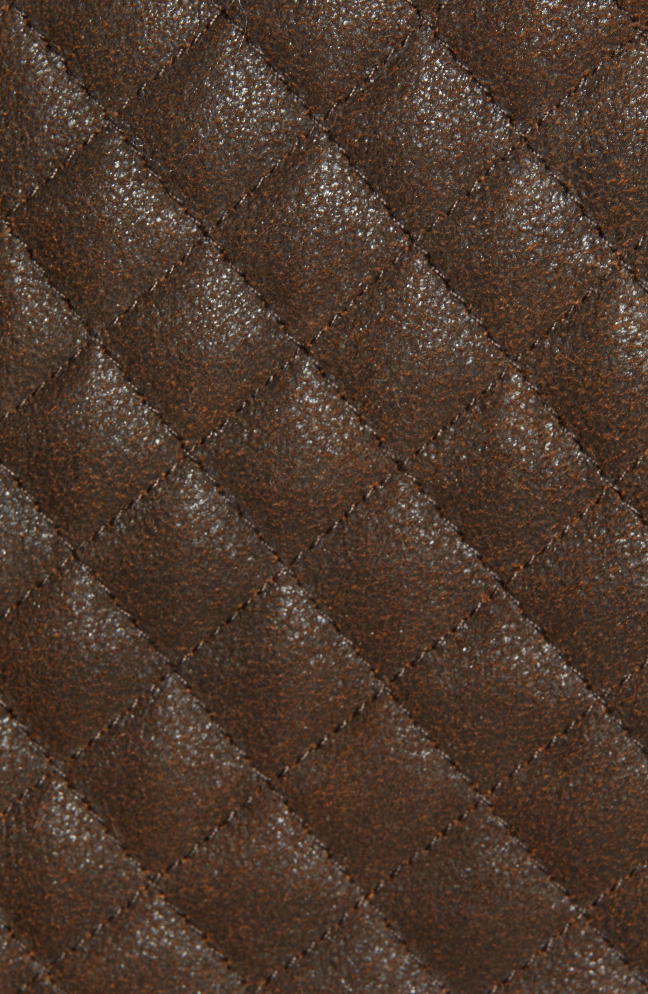 Quilted Leather & Wool Vest,                             Alternate thumbnail 7, color,                             201