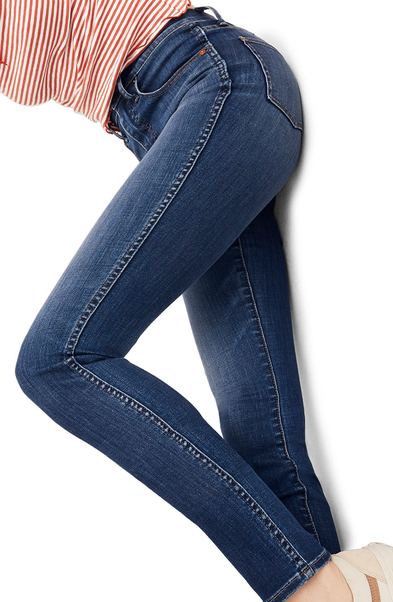 10-Inch High Rise Skinny Jeans,                             Alternate thumbnail 6, color,                             DANNY