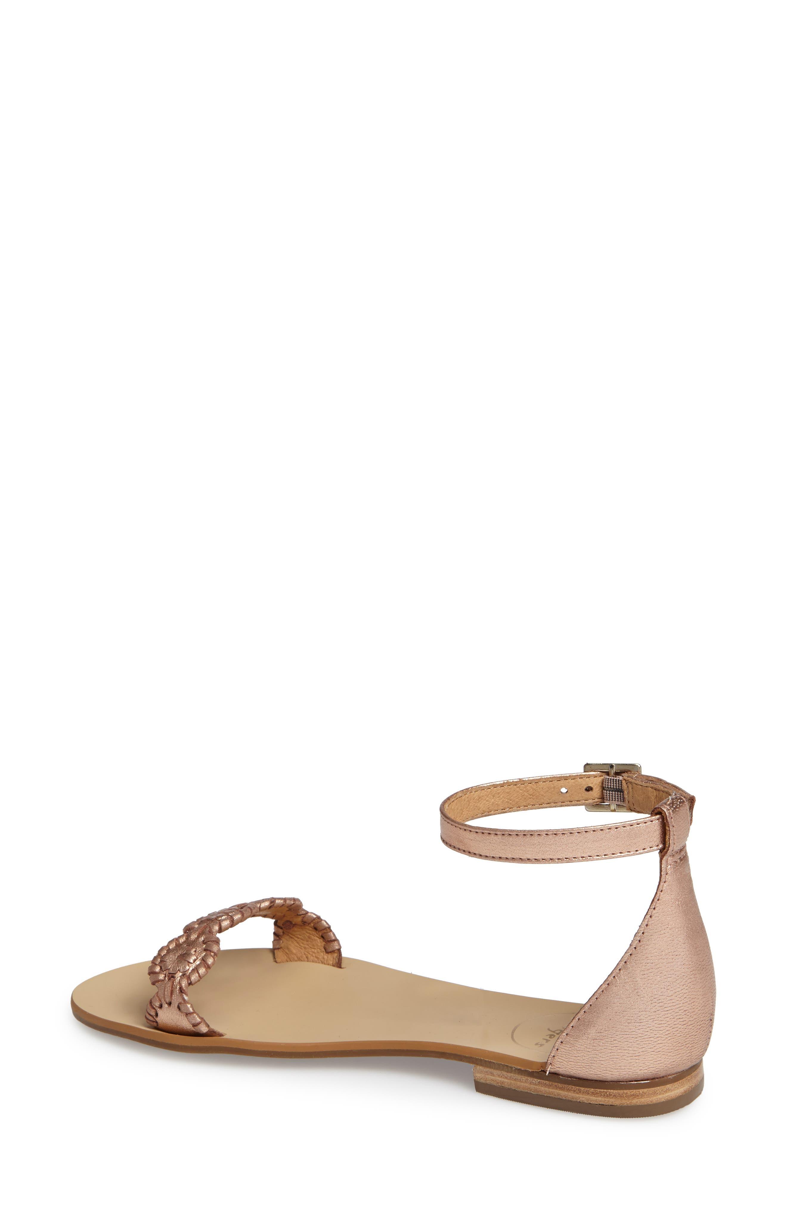 Daphne Medallion Flat Sandal,                             Alternate thumbnail 8, color,