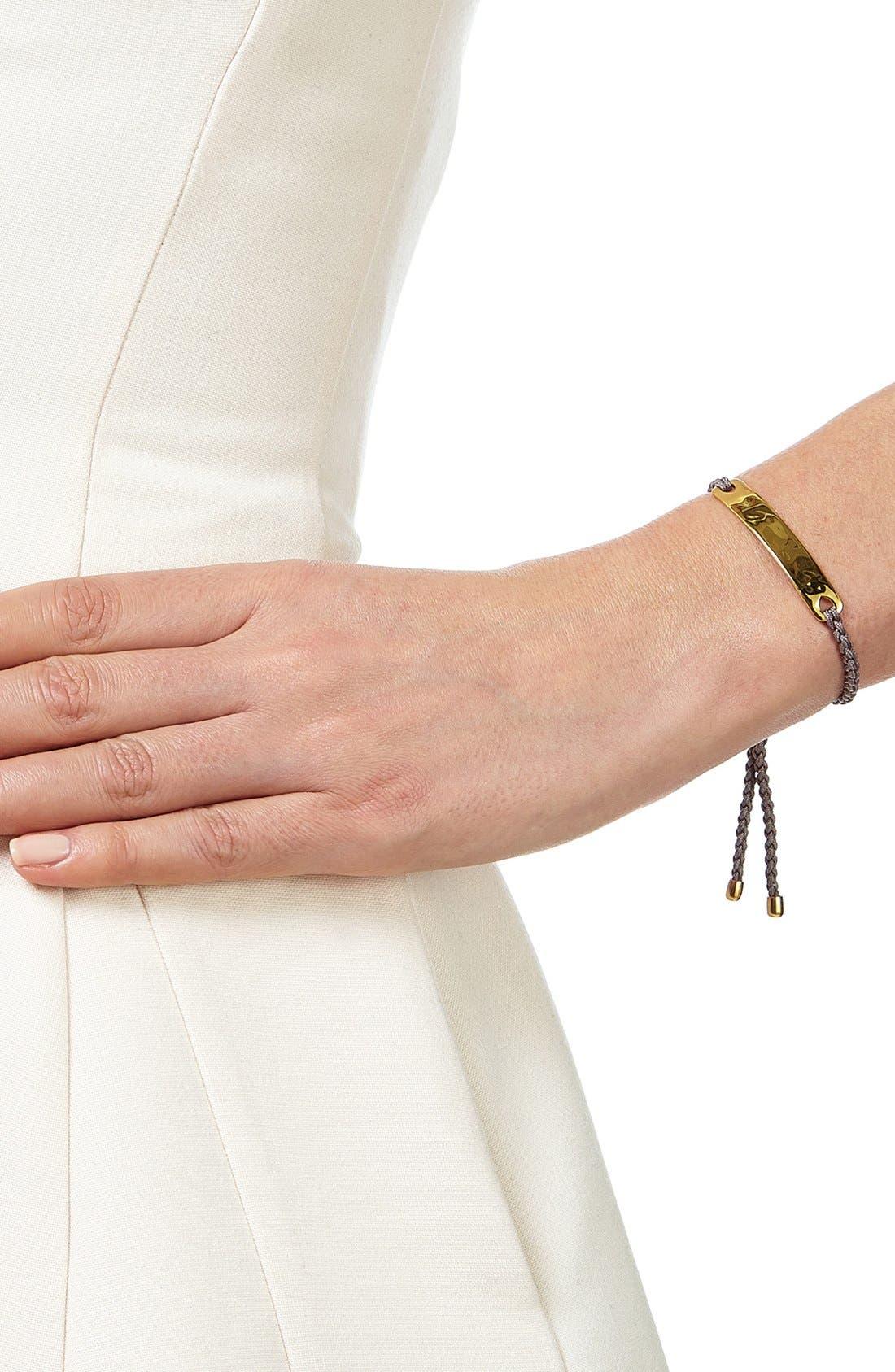 Engravable HavanaFriendship Bracelet,                             Alternate thumbnail 4, color,                             YELLOW GOLD/ MINK
