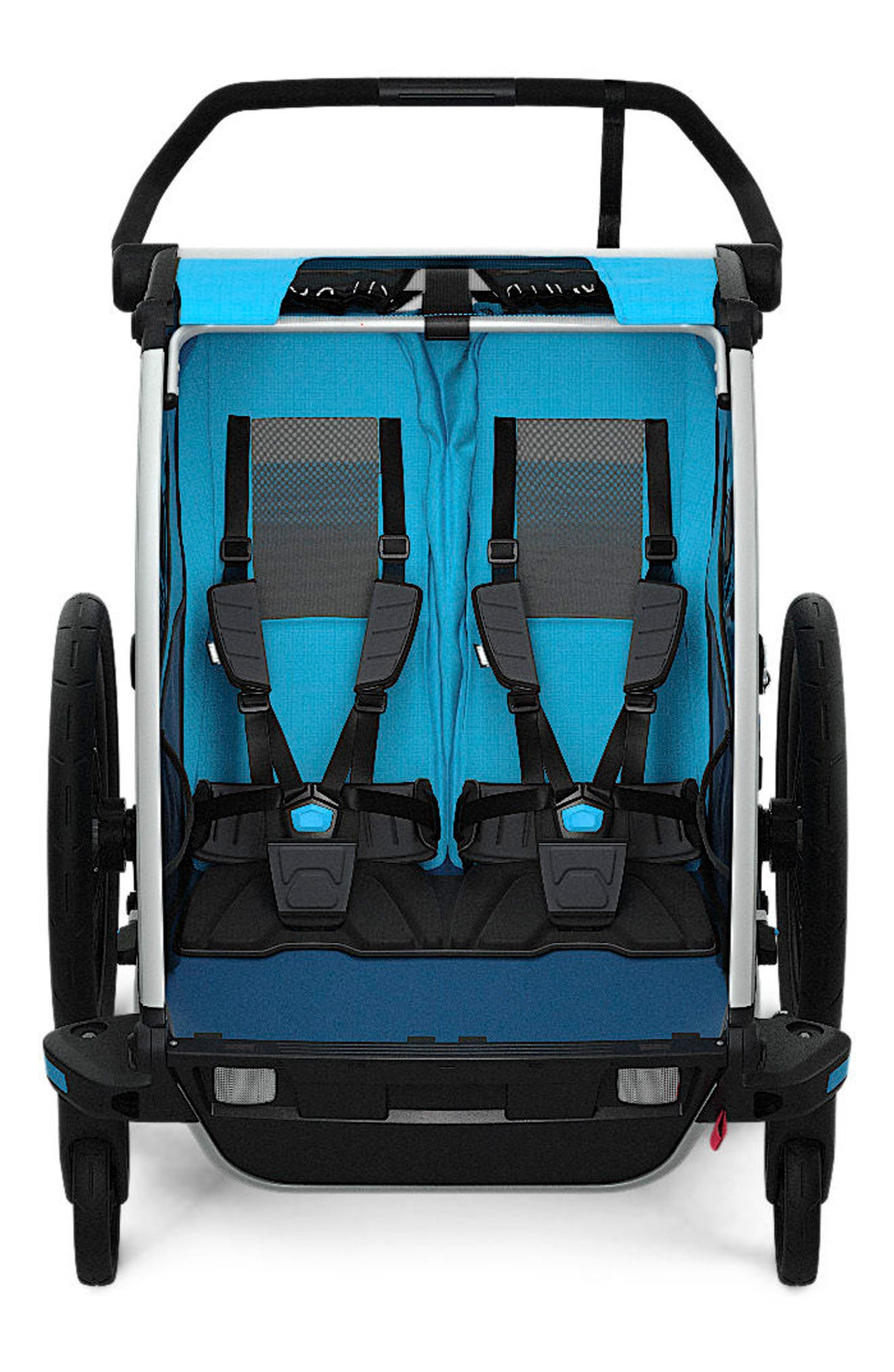 Chariot Cross 2 Multisport Double Cycle Trailer/Stroller,                         Main,                         color, THULE BLUE