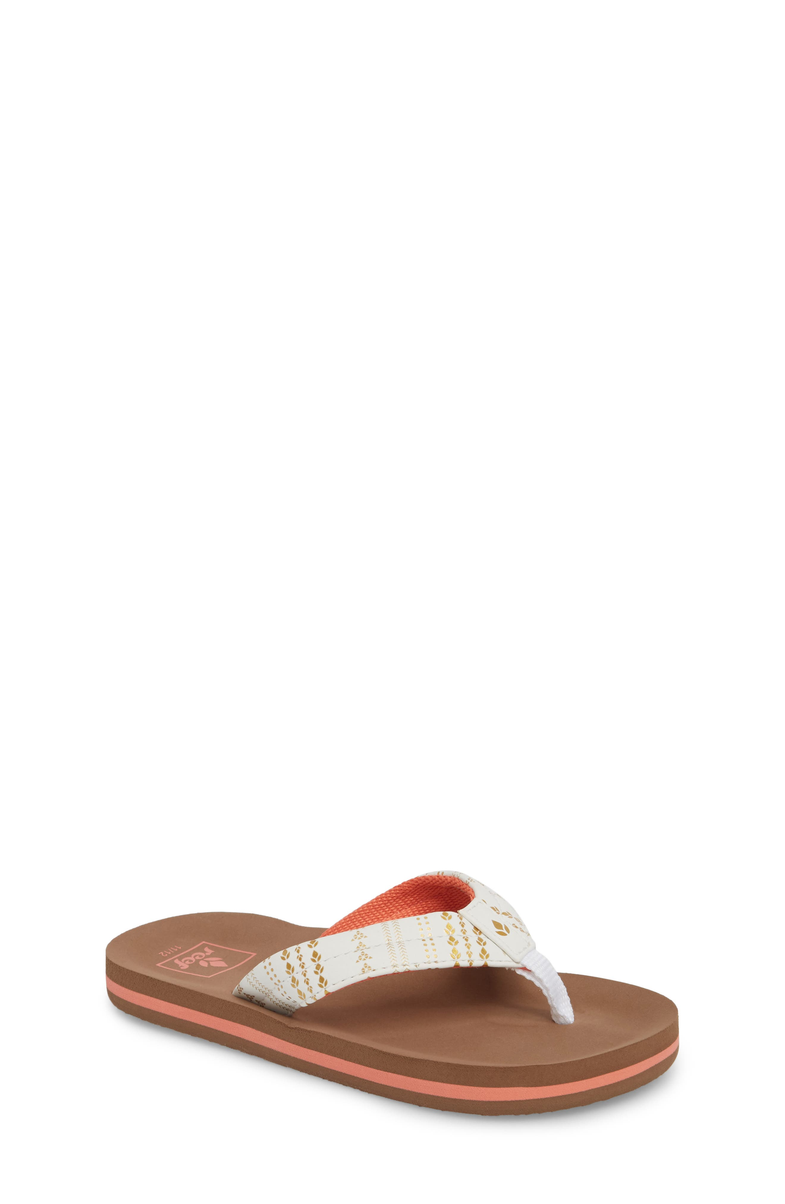 Little Ahi Tattoo Flip Flop,                         Main,                         color, WHITE
