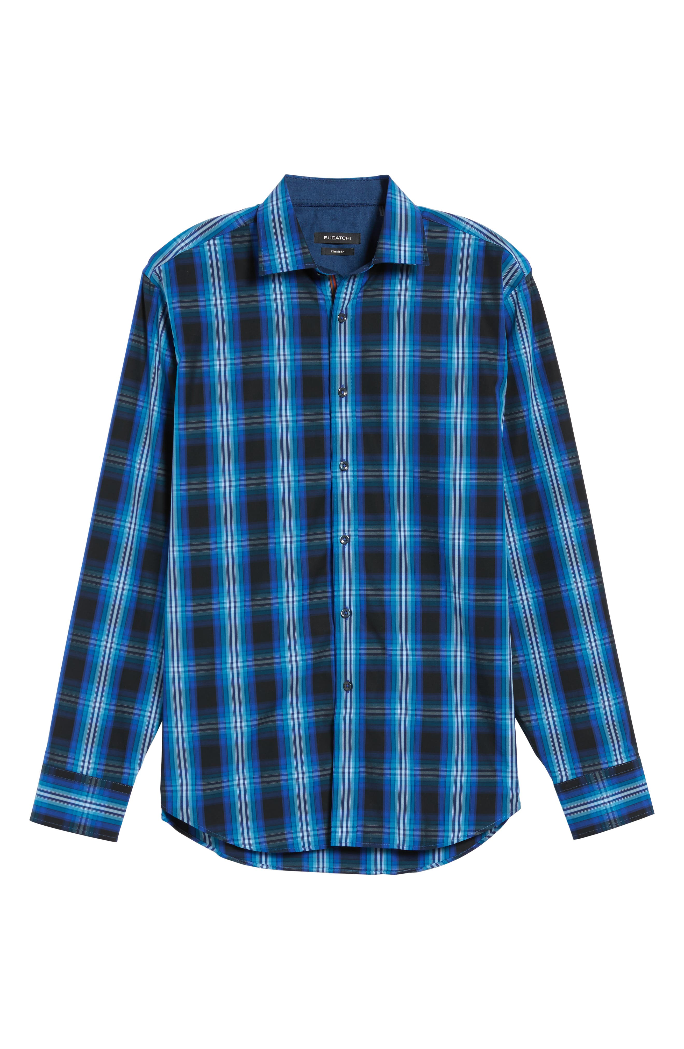 Classic Fit Plaid Sport Shirt,                             Alternate thumbnail 6, color,                             422